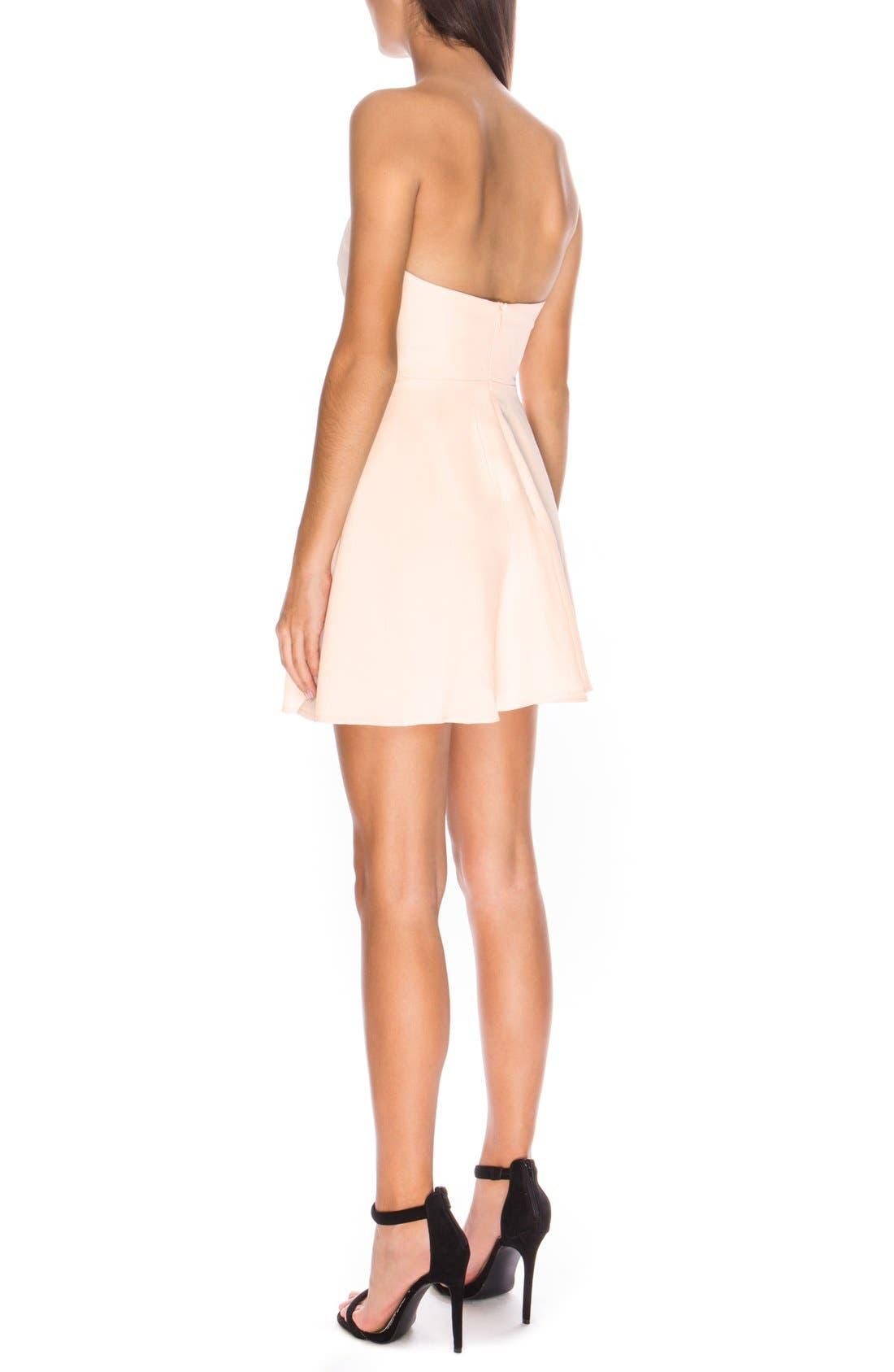 Alternate Image 2  - Keepsake the Label 'Get Free' Strapless Minidress