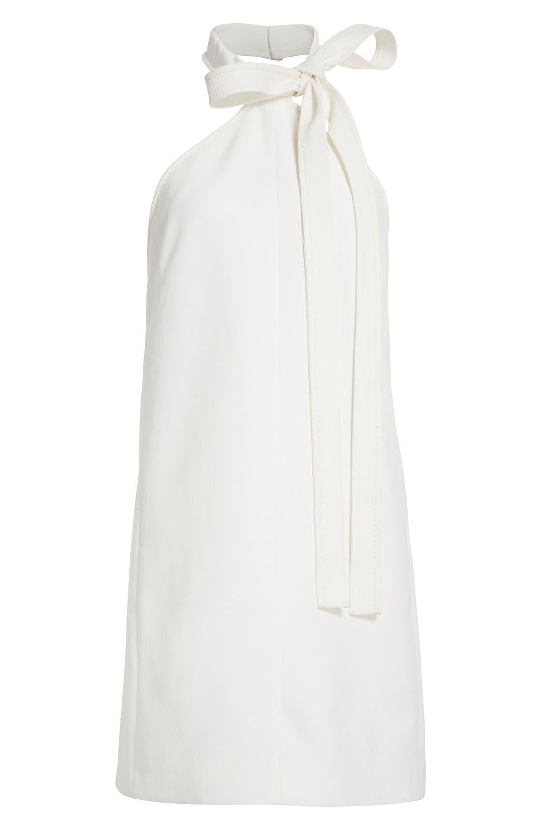 Alternate Image 5  - Chloé Textured Crêpe Tie Neck Halter Dress