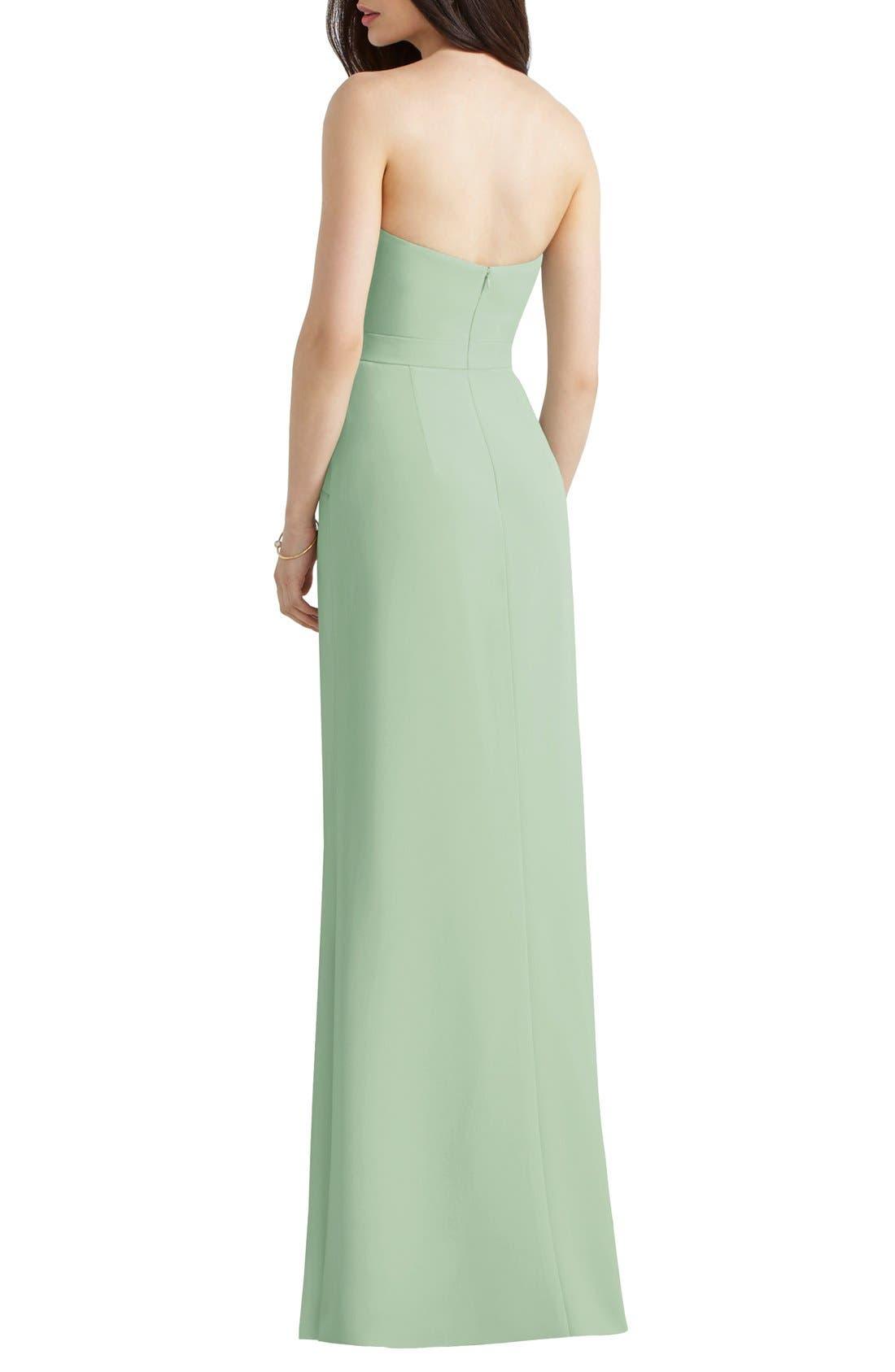 Alternate Image 2  - Social Bridesmaids Strapless Peplum Detail Georgette Gown