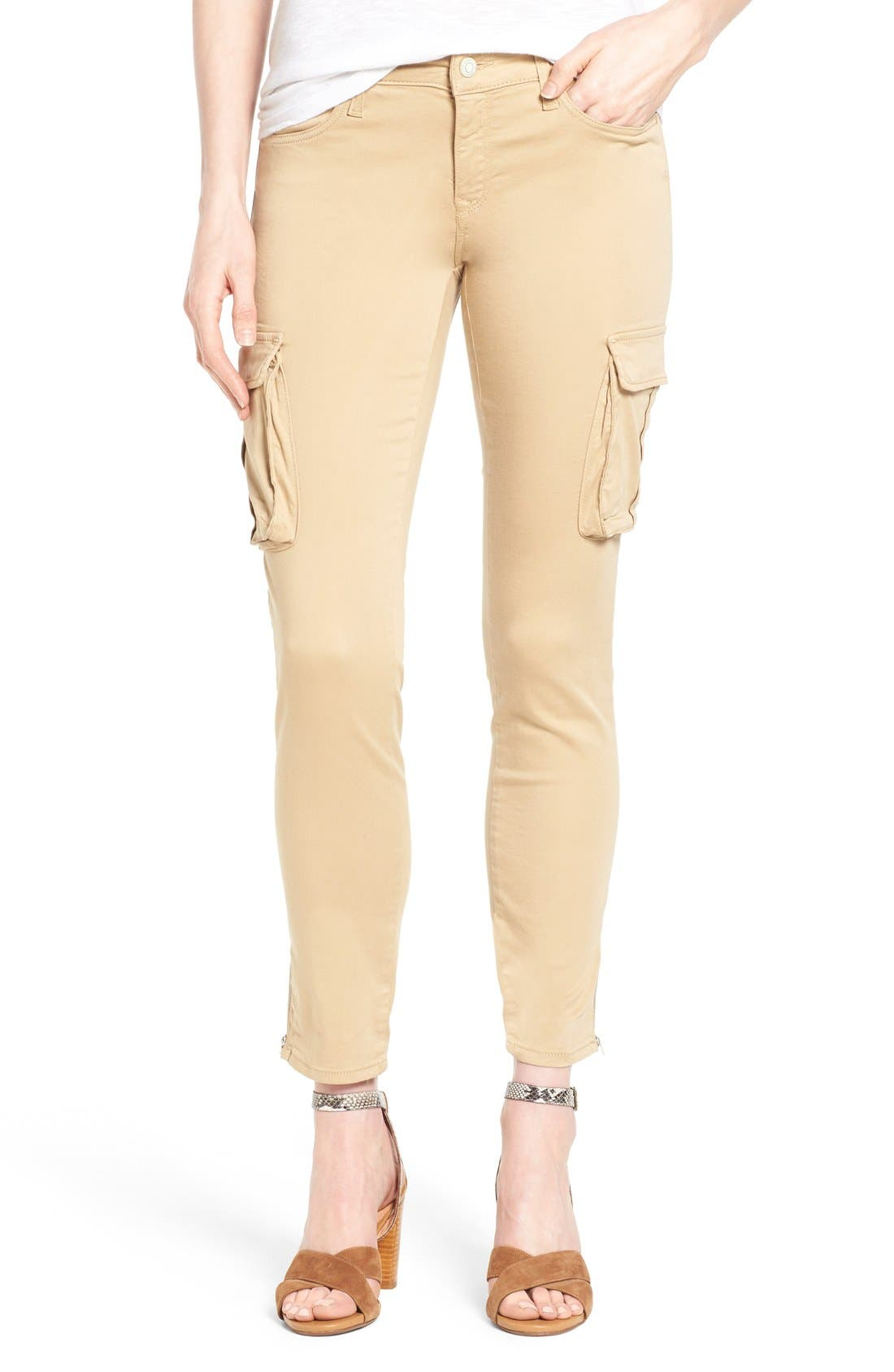 MAVI JEANS 'Juliette' Stretch Twill Ankle Cargo Pants
