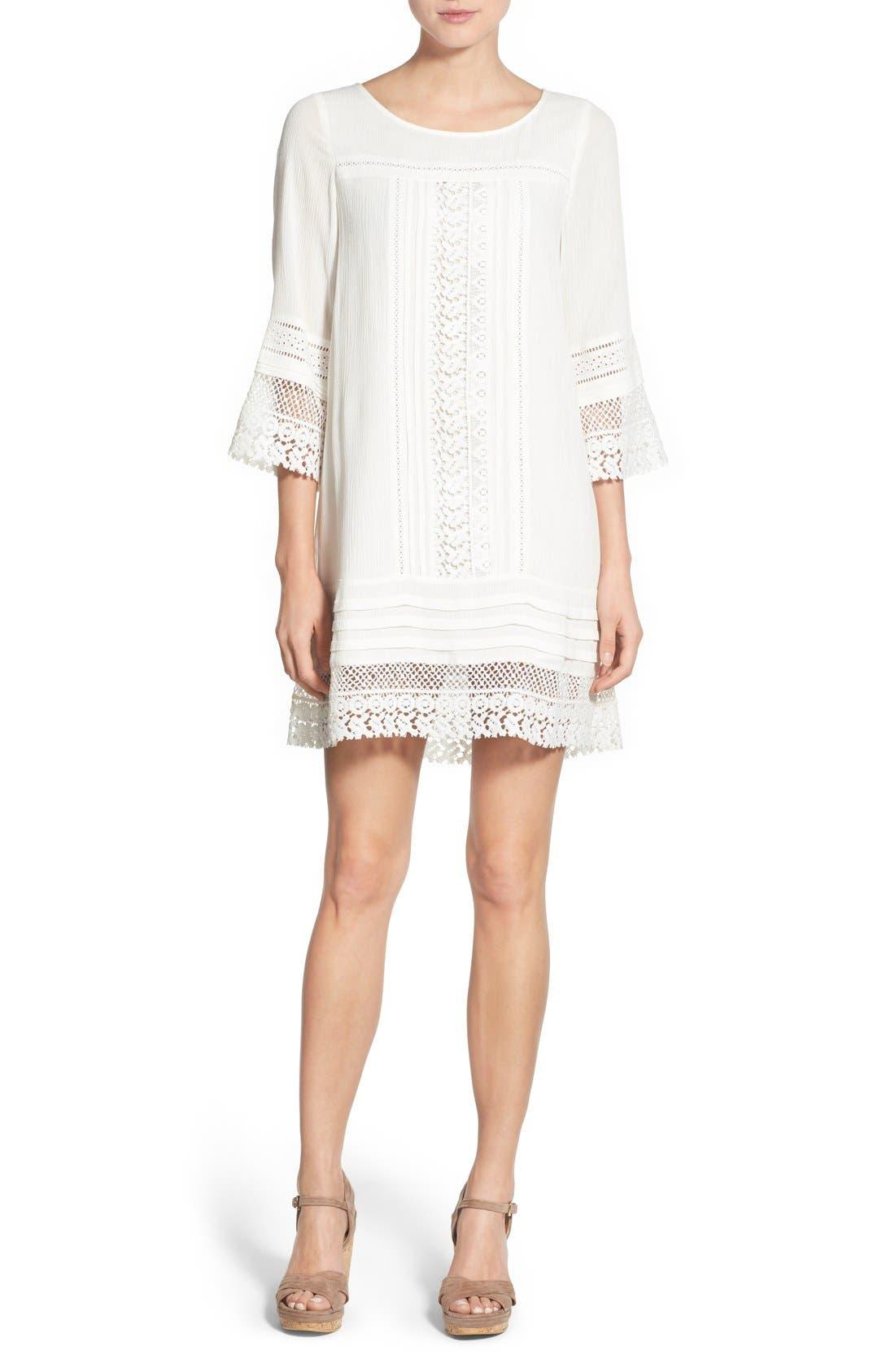 Alternate Image 1 Selected - Sanctuary 'Desert Boheme' Lace Trim Shift Dress