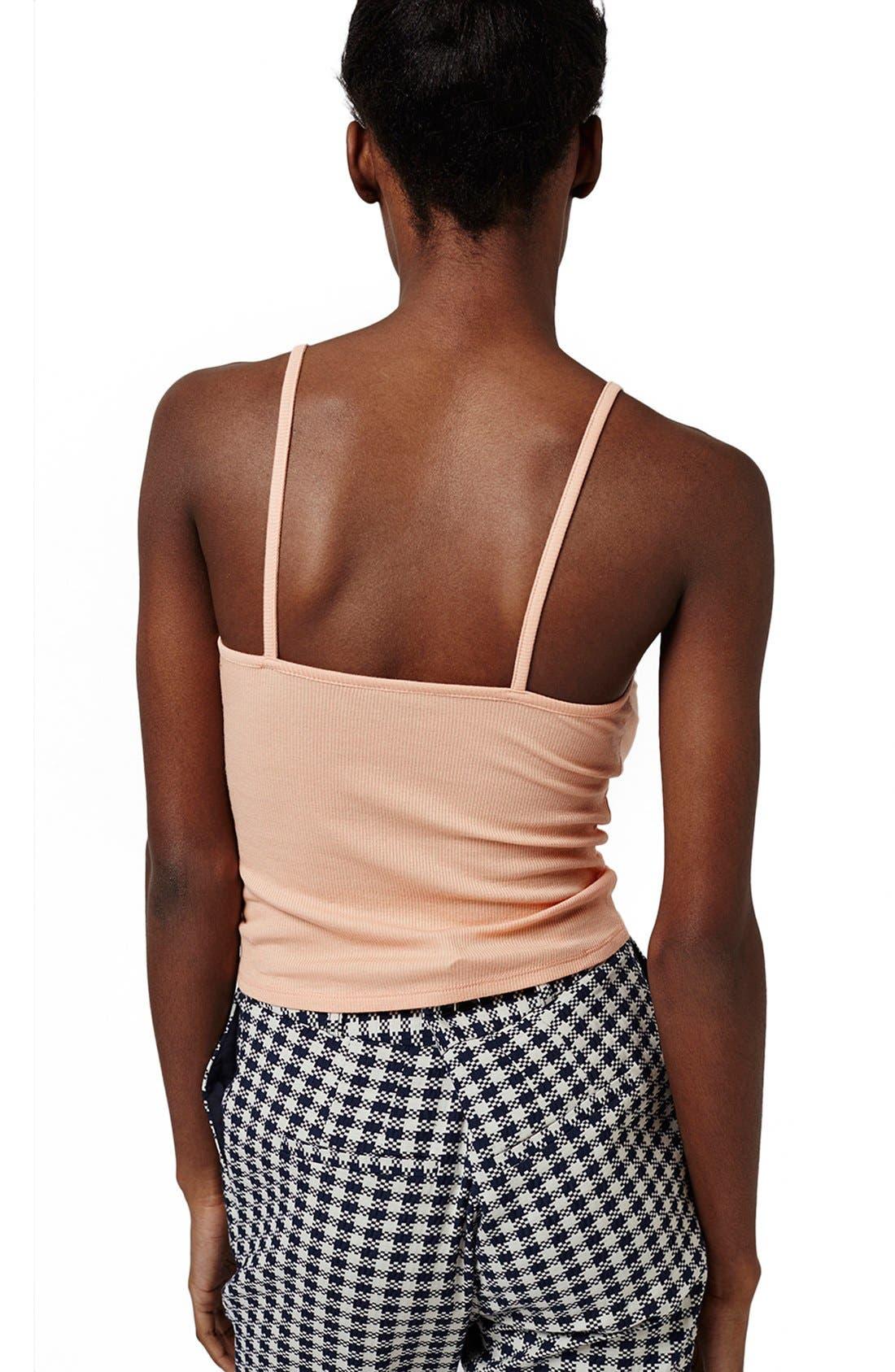 Alternate Image 3  - Topshop Lace-Up Camisole