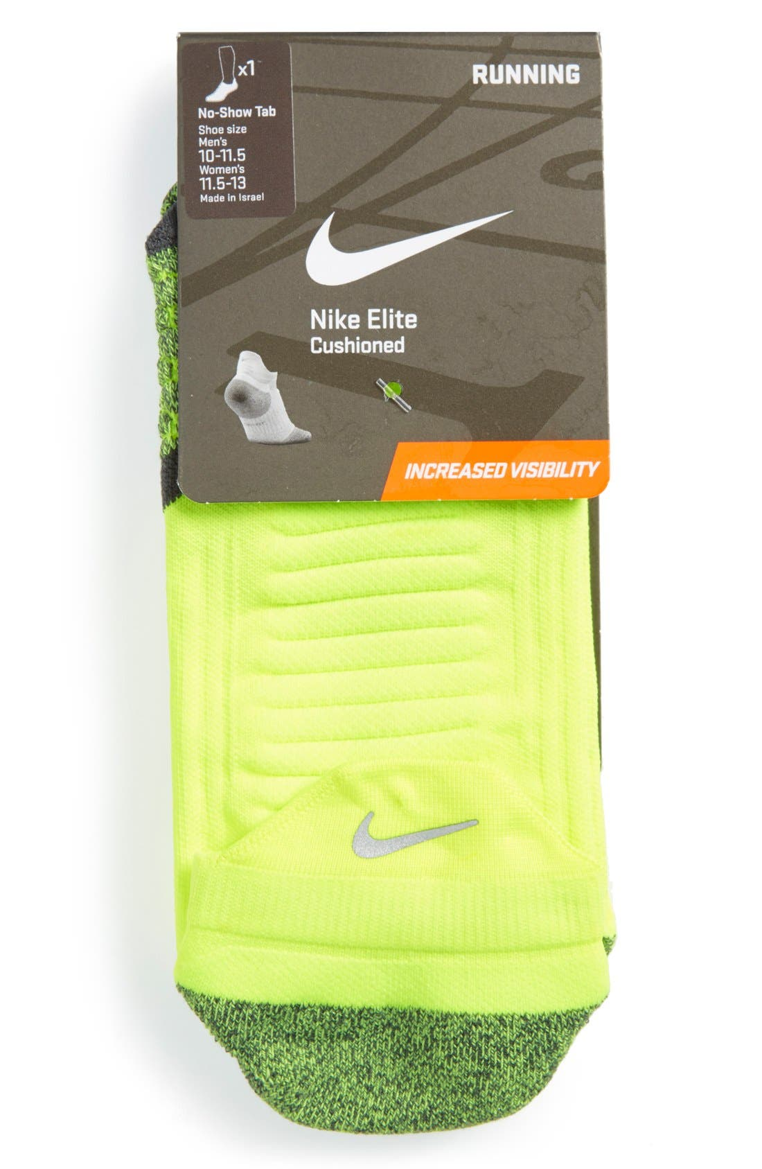 Alternate Image 4  - Nike 'Elite' Cushioned No-Show Tab Running Socks