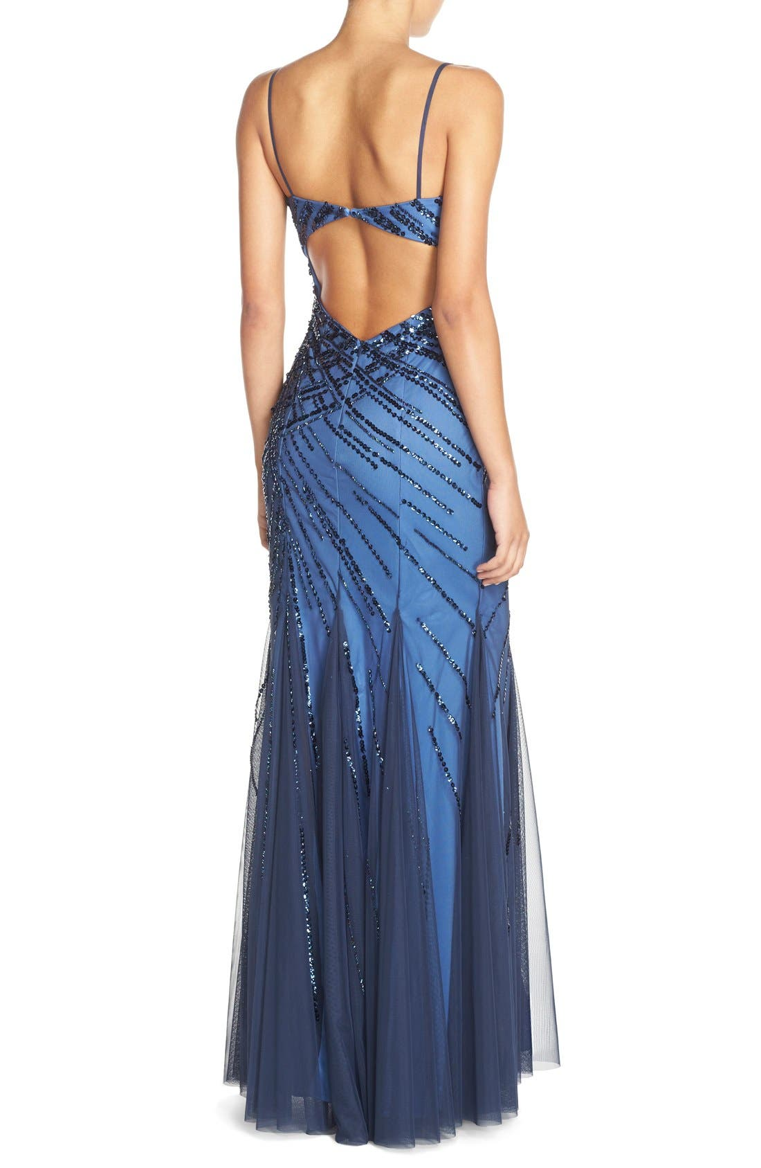 Alternate Image 2  - Sean Collection Sweetheart Neck Sequin Gown