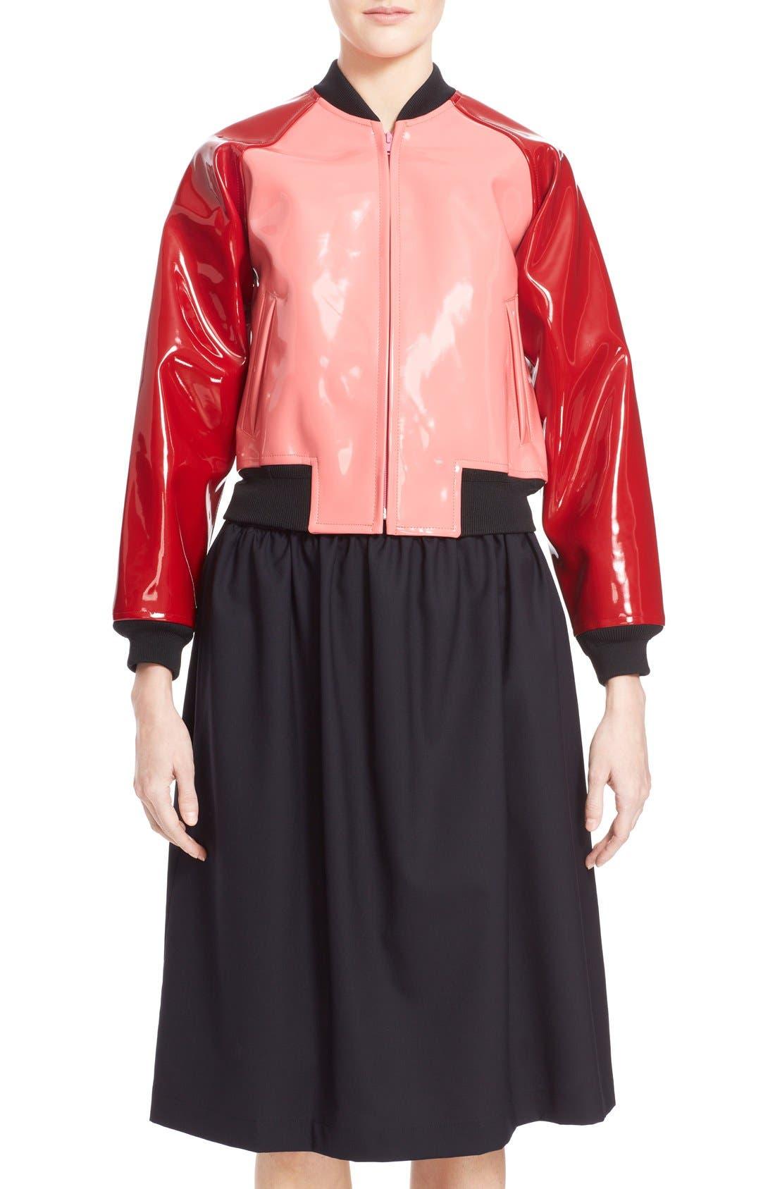 Main Image - Comme des Garçons 'Enamel' Faux Leather Bomber Jacket