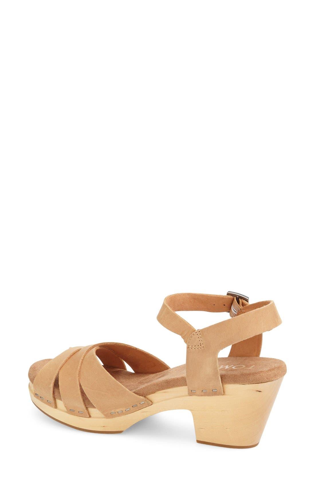 Alternate Image 2  - TOMS 'Beatrix' Leather Sandal (Women)