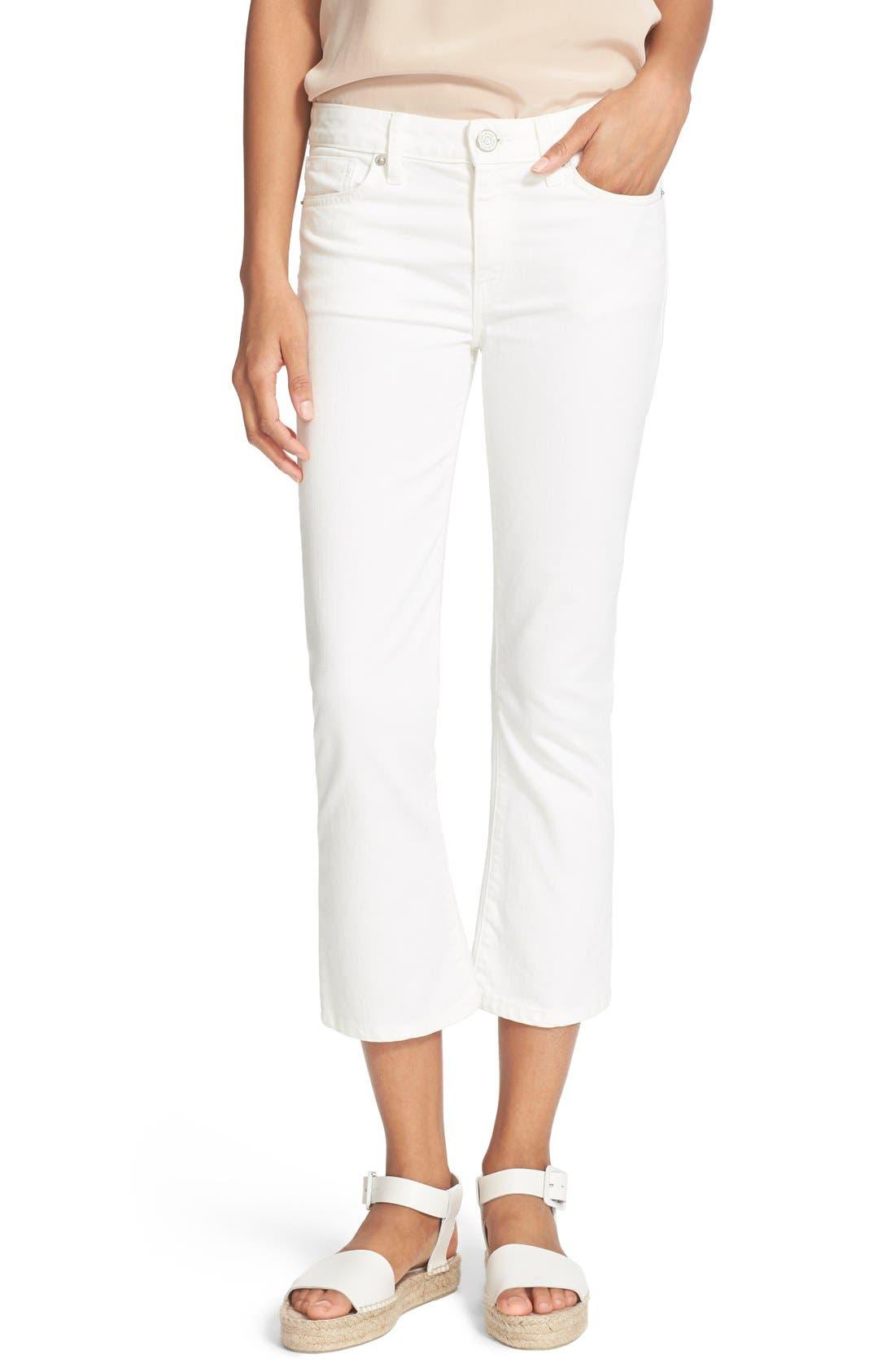 Joie Crop Flare Jeans (Porcelain)