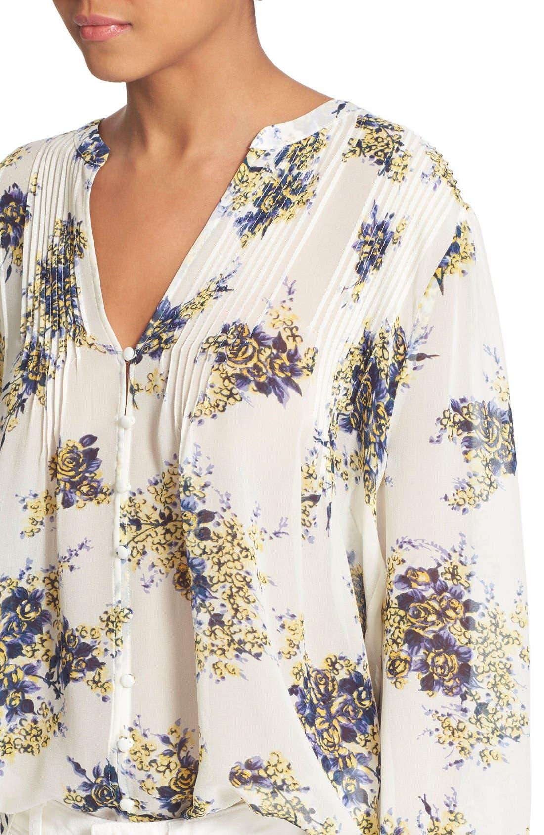 Alternate Image 4  - Joie 'Laurel B' Floral Print Silk Top