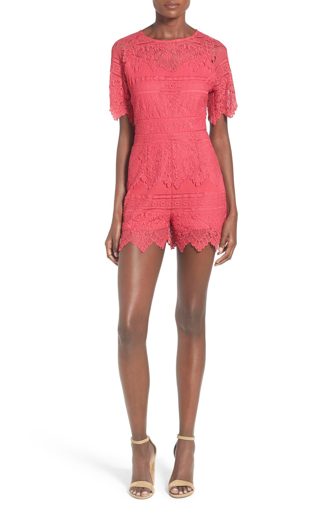 Alternate Image 1 Selected - Love, Fire Lace Romper