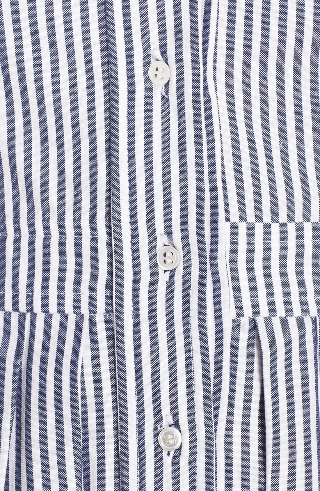 Alternate Image 6  - Eliza J Stripe Cotton Shirtdress (Regular & Petite)