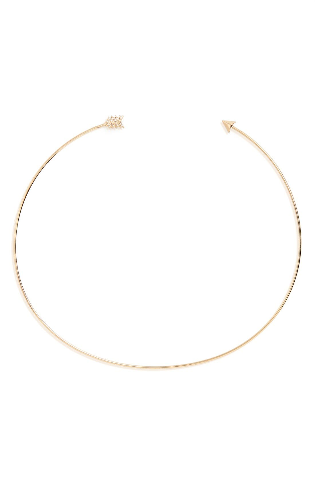 Main Image - Panacea Crystal Embellished Arrow Collar Necklace