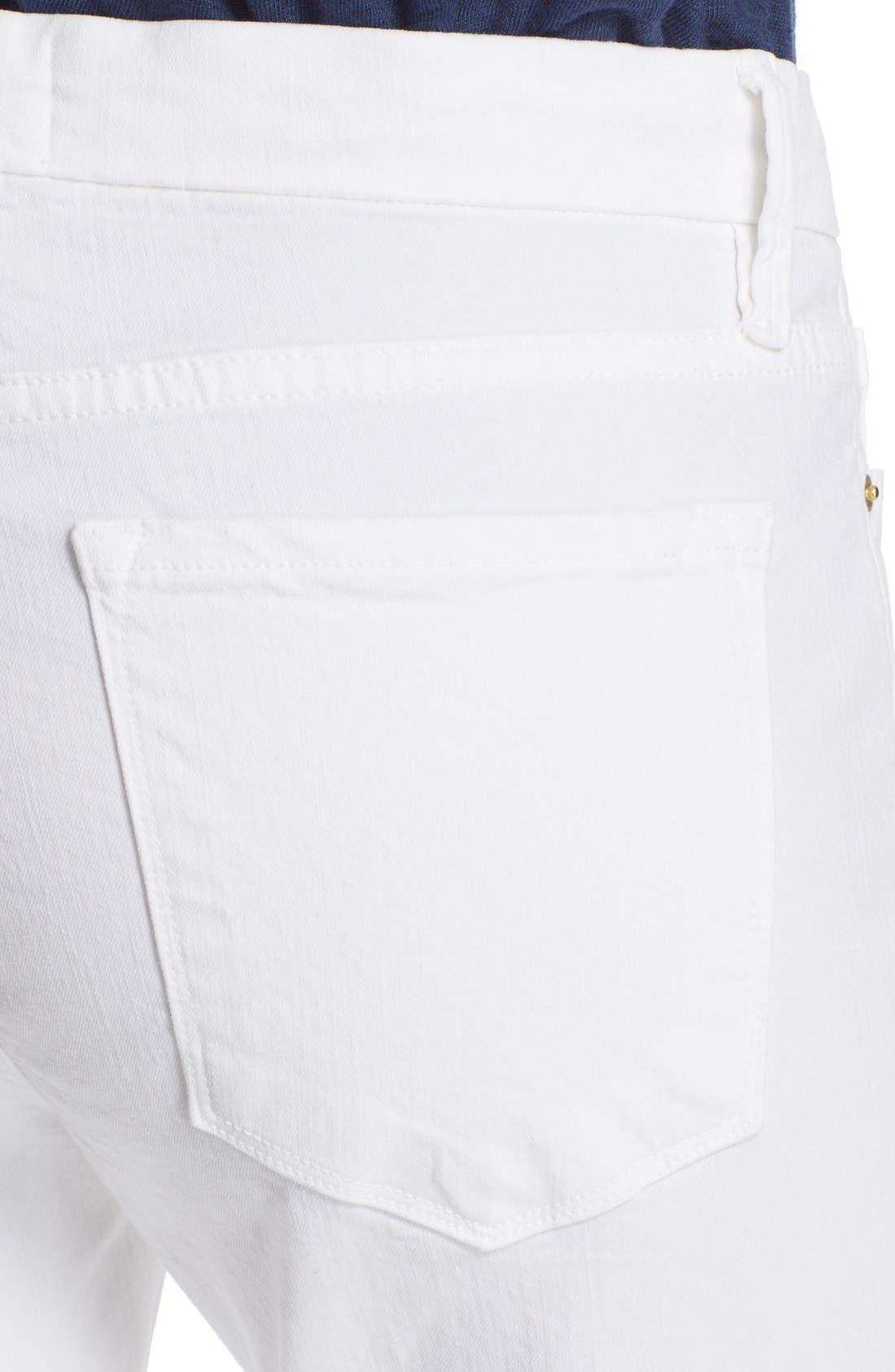 Alternate Image 4  - FRAME 'Le Crop Mini Boot' Crop Jeans (Blanc)