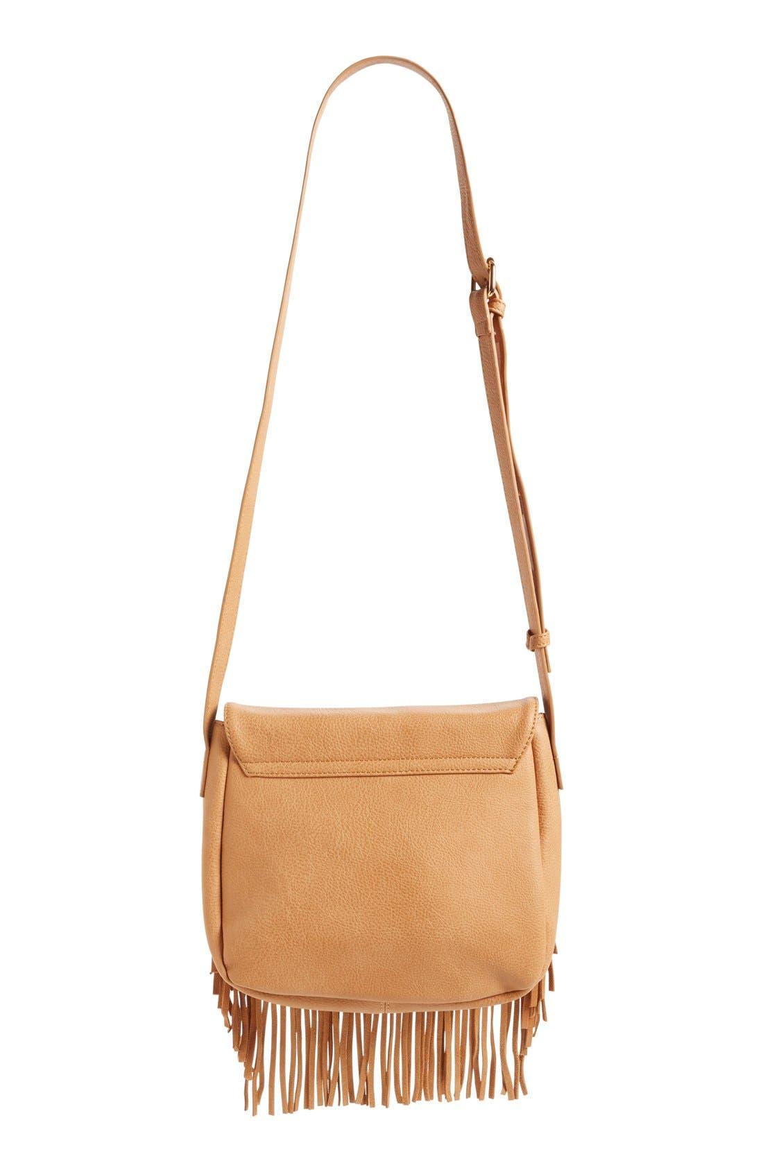 Alternate Image 3  - Sole Society 'Kerry' Fringe Faux Leather Crossbody Bag