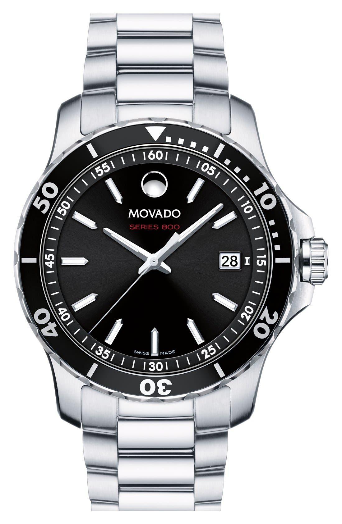 Main Image - Movado 'Series 800' Bracelet Watch, 40mm