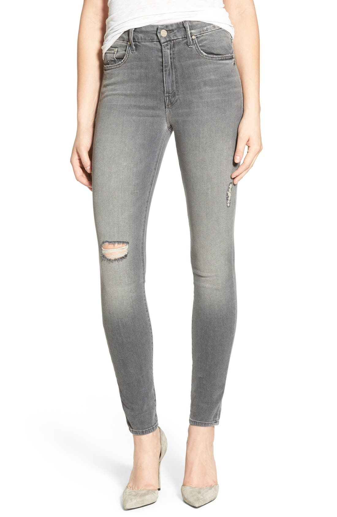 Alternate Image 1 Selected - MOTHER 'The Looker' High Rise Skinny Jeans (To the Moon and Back Again)