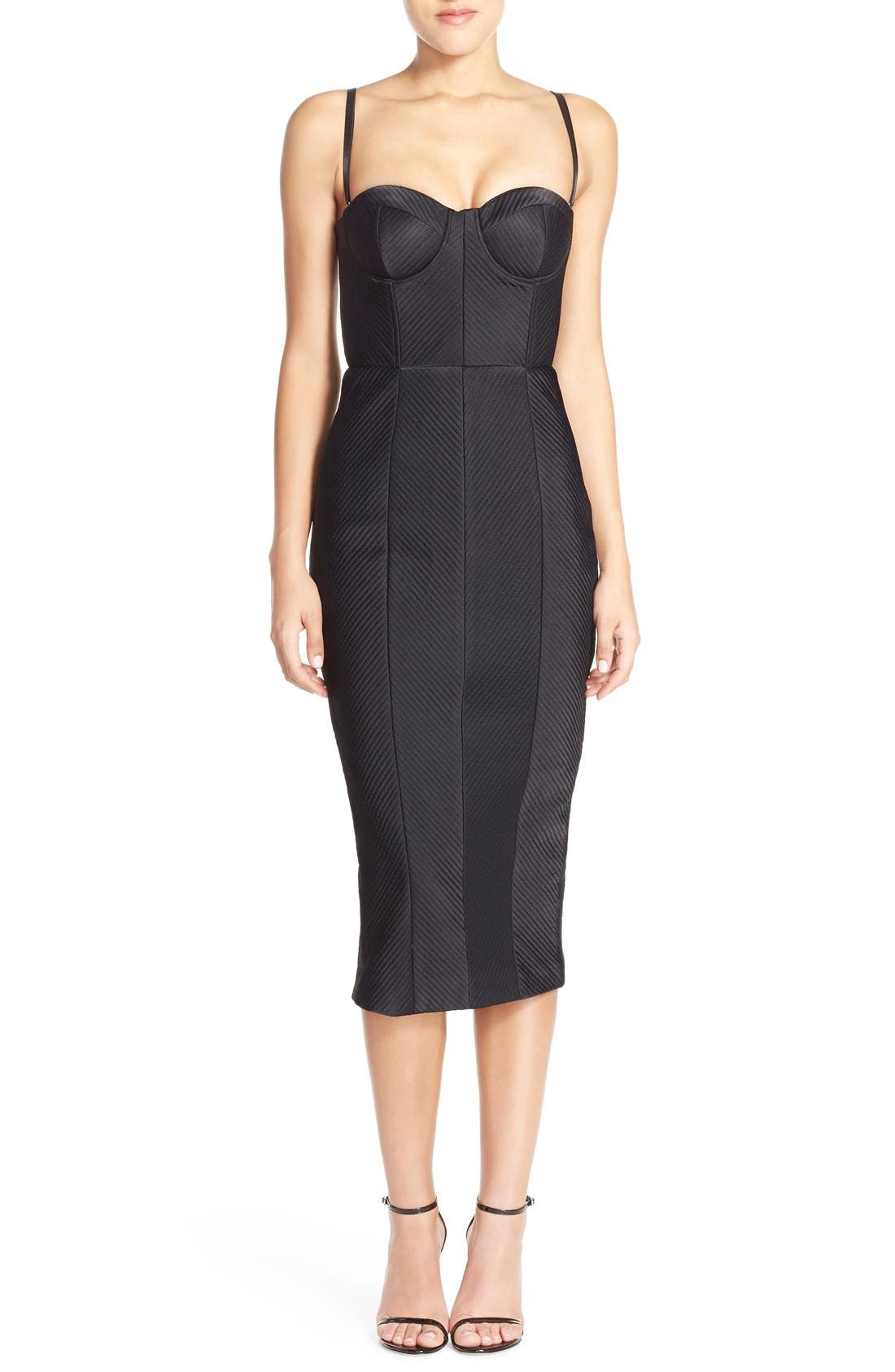 Main Image - Misha Collection 'Byanca' Convertible Quilted Midi Dress