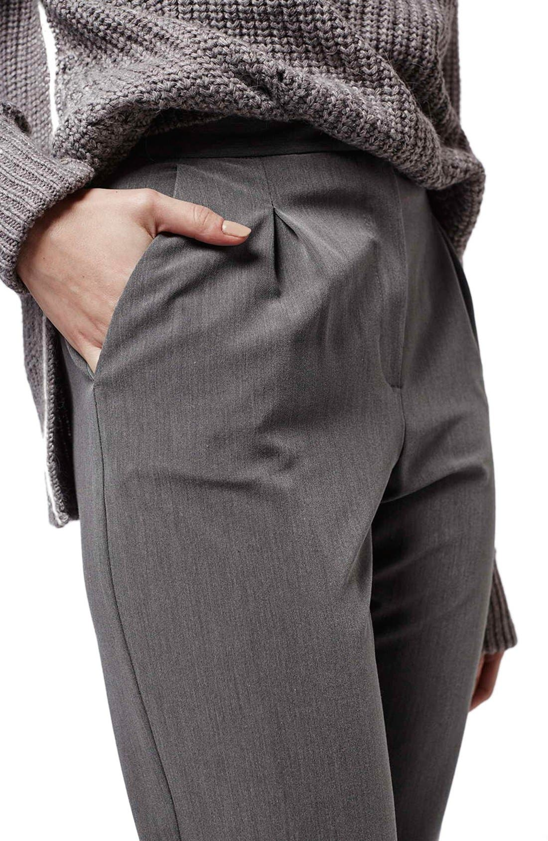 Alternate Image 5  - Topshop Notch Back Tapered Trousers (Petite)