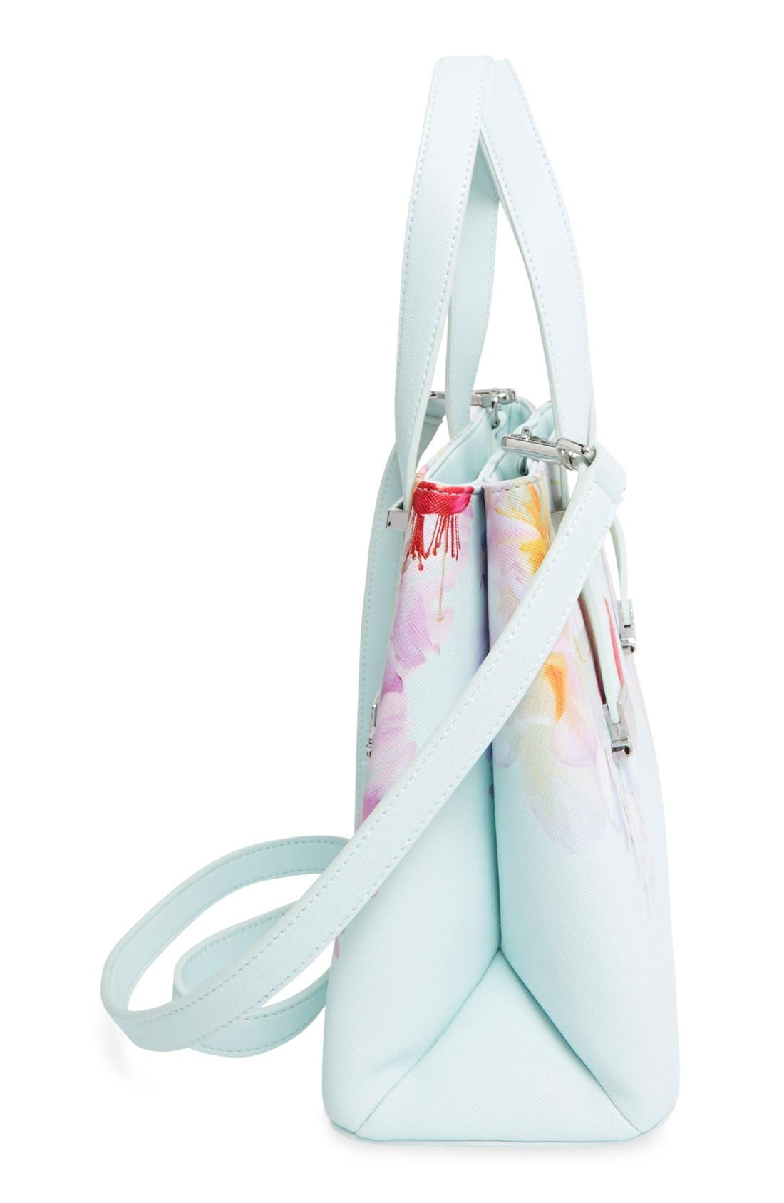 Alternate Image 5  - Ted Baker London 'Hanging Gardens' Floral Print Faux Leather Shopper
