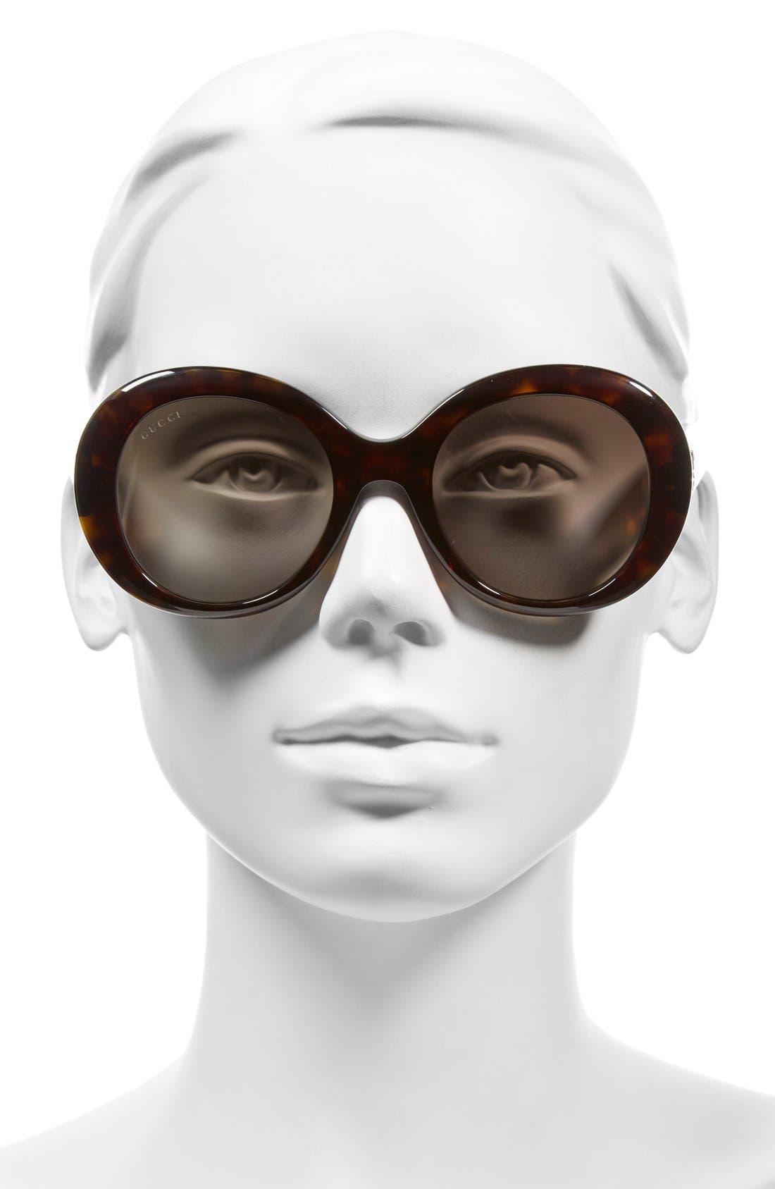 Alternate Image 2  - Gucci 51mm Round Sunglasses