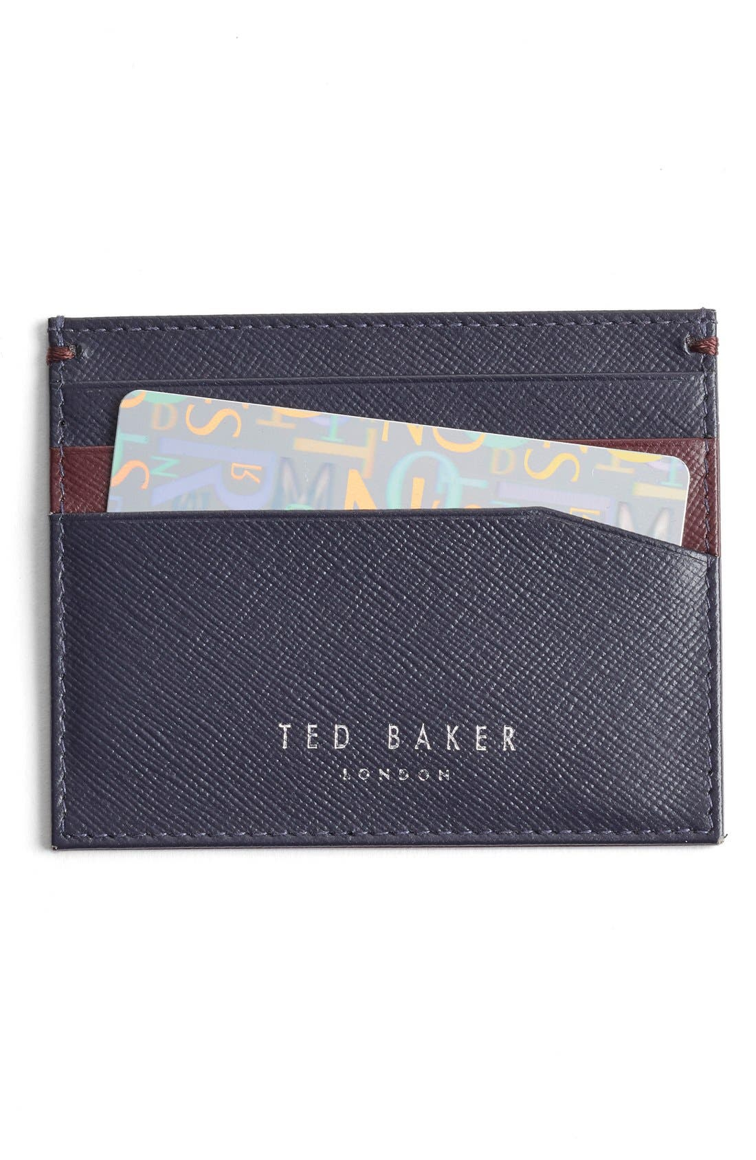 TED BAKER LONDON 'Froncko' Leather Card Case