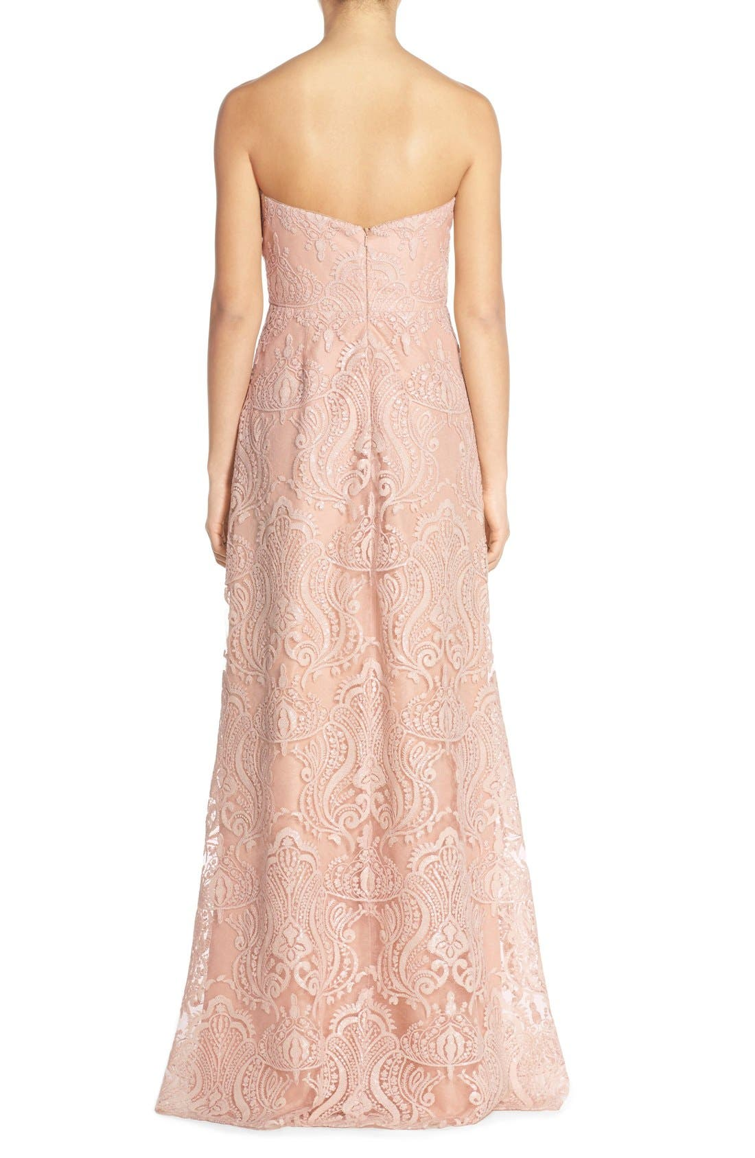 Alternate Image 2  - Jenny Yoo 'Sadie' Sequin Lace Strapless A-Line Gown