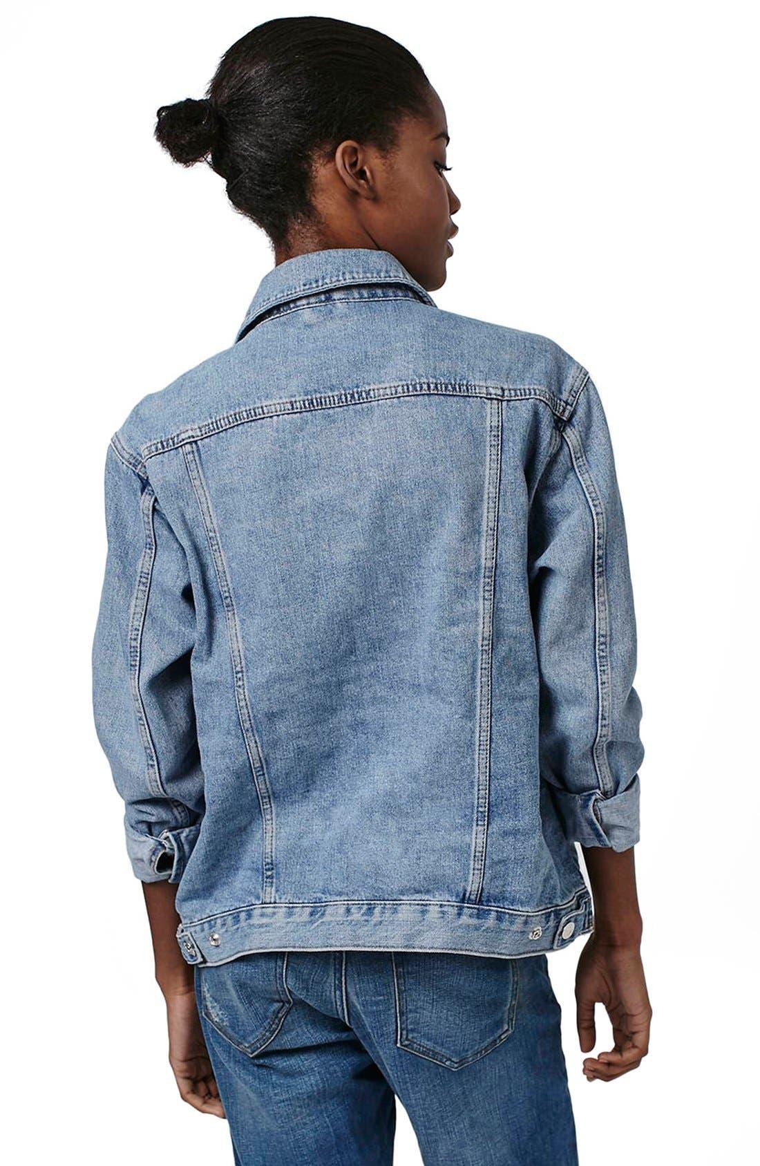 Alternate Image 2  - Topshop Oversize Denim Jacket (Regular & Petite)