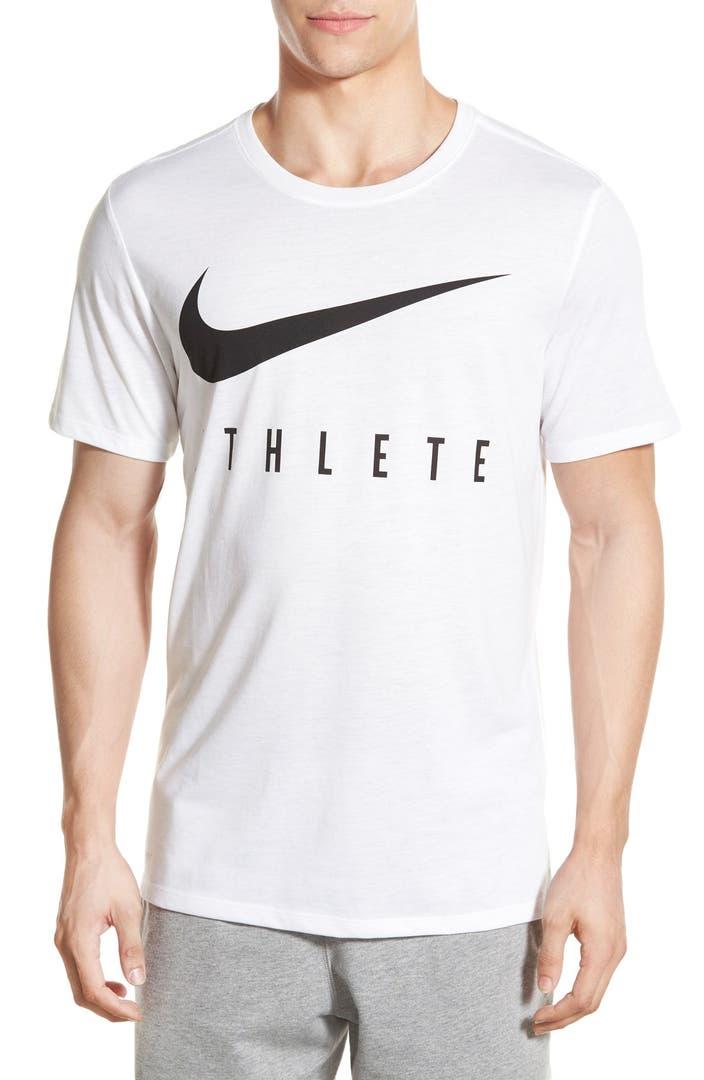 Nike 39 Athlete Swoosh 39 Dri Fit T Shirt Nordstrom
