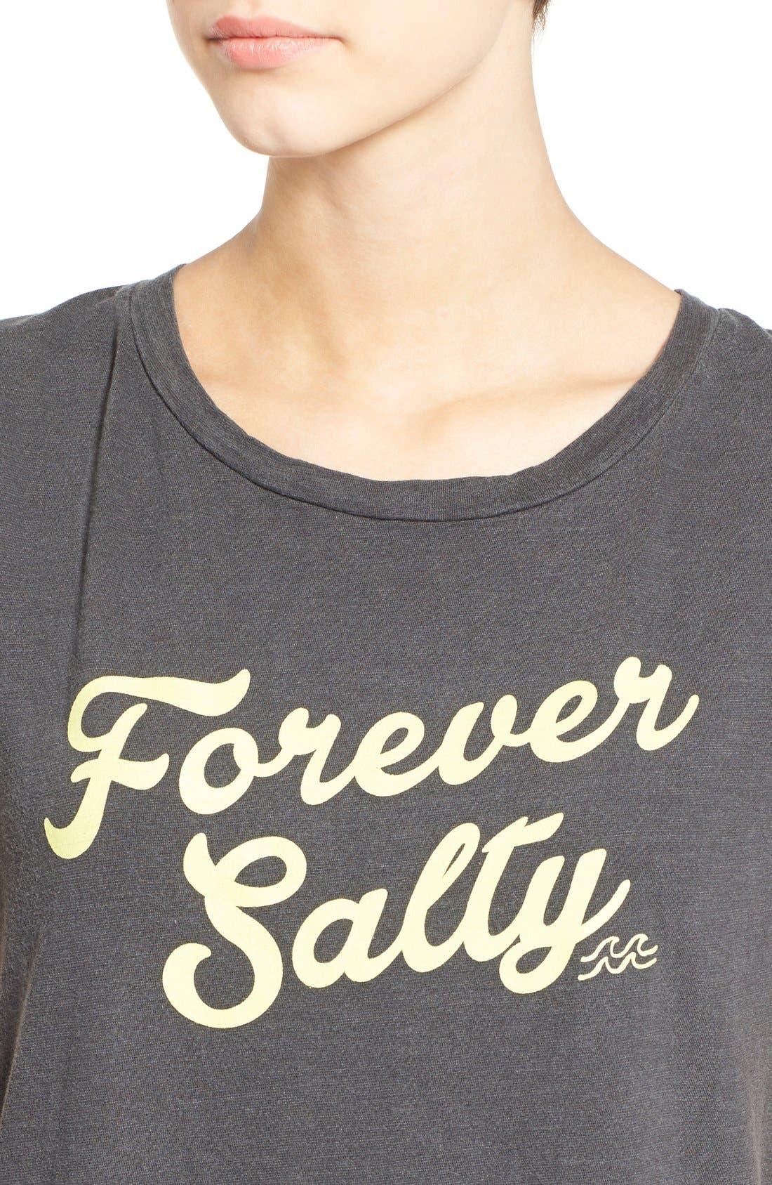 Alternate Image 4  - Billabong 'Forever Salty' Graphic T-Shirt Dress