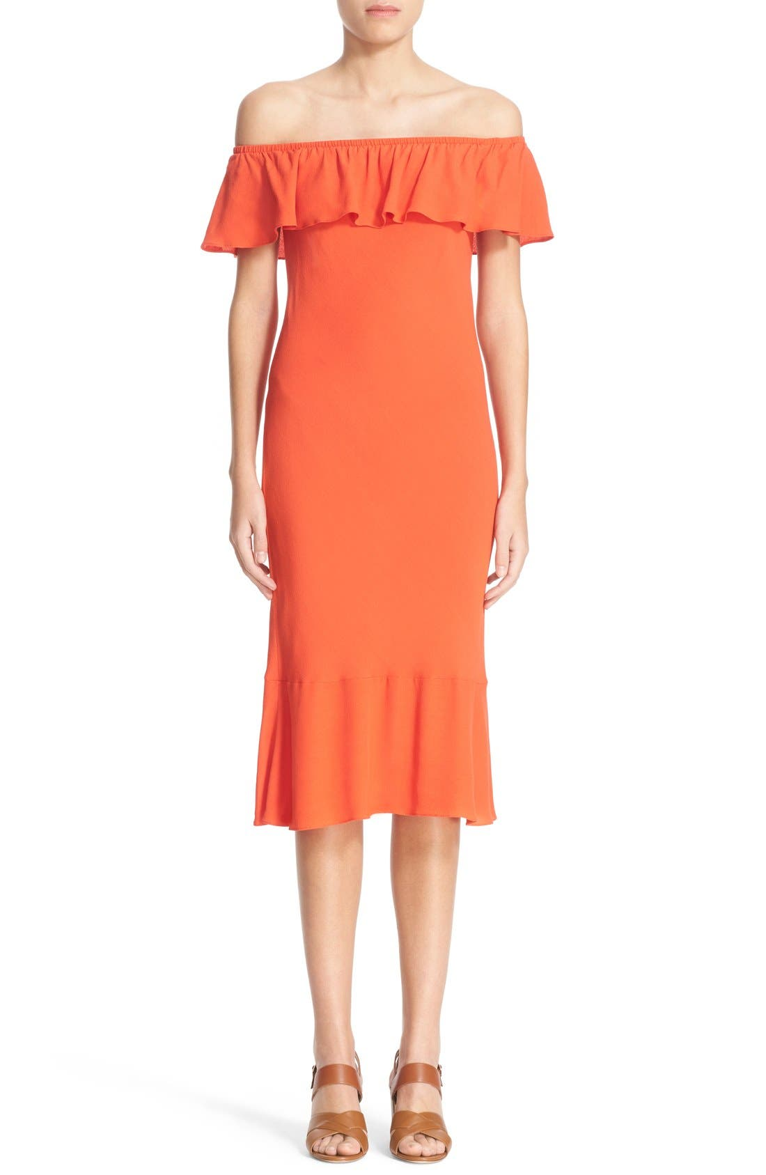 Main Image - Veronica Beard 'Oleta' Ruffle Off the Shoulder Dress