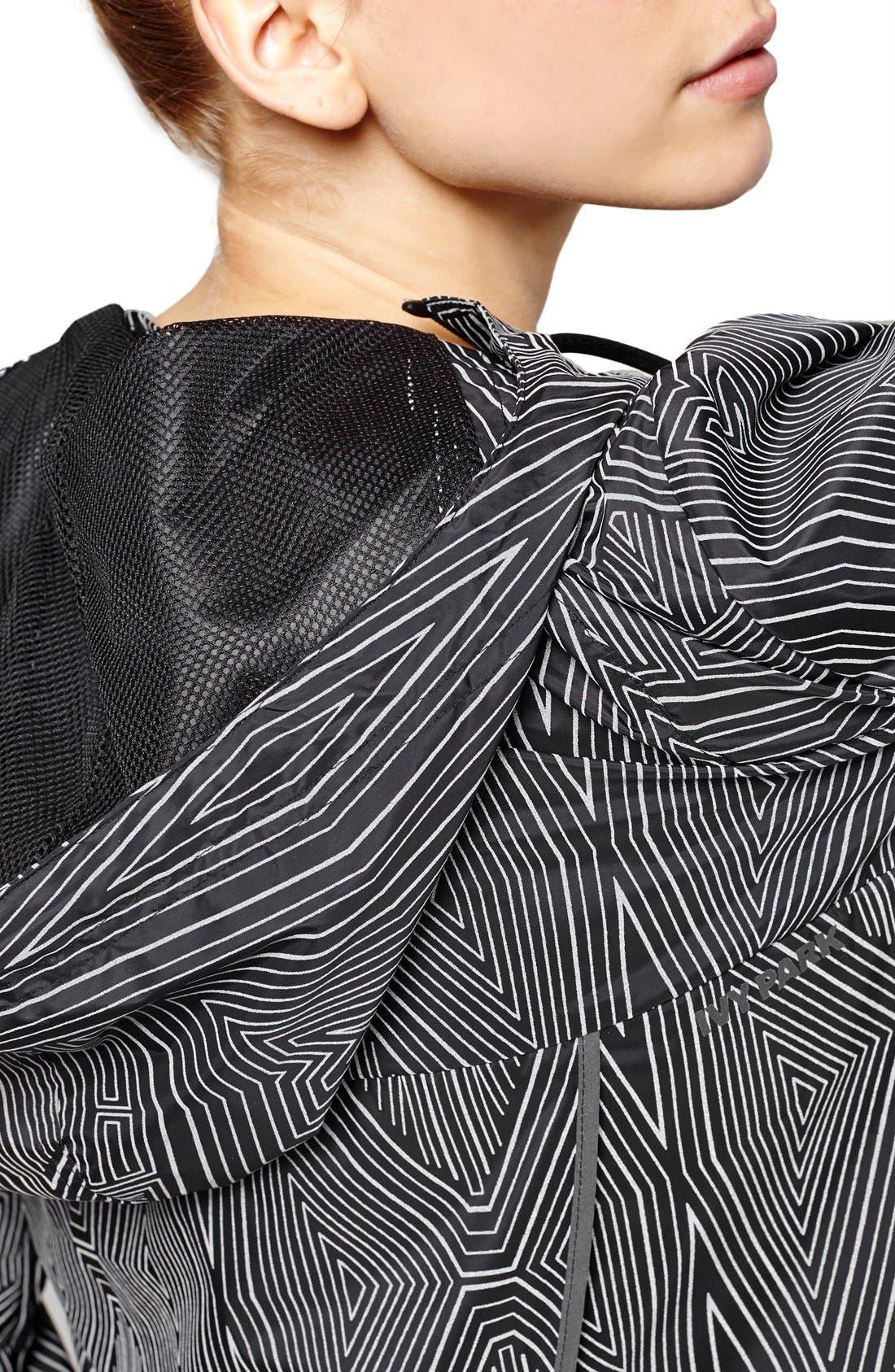 Alternate Image 5  - IVY PARK® Reflective Linear Print Long Sleeve Jacket