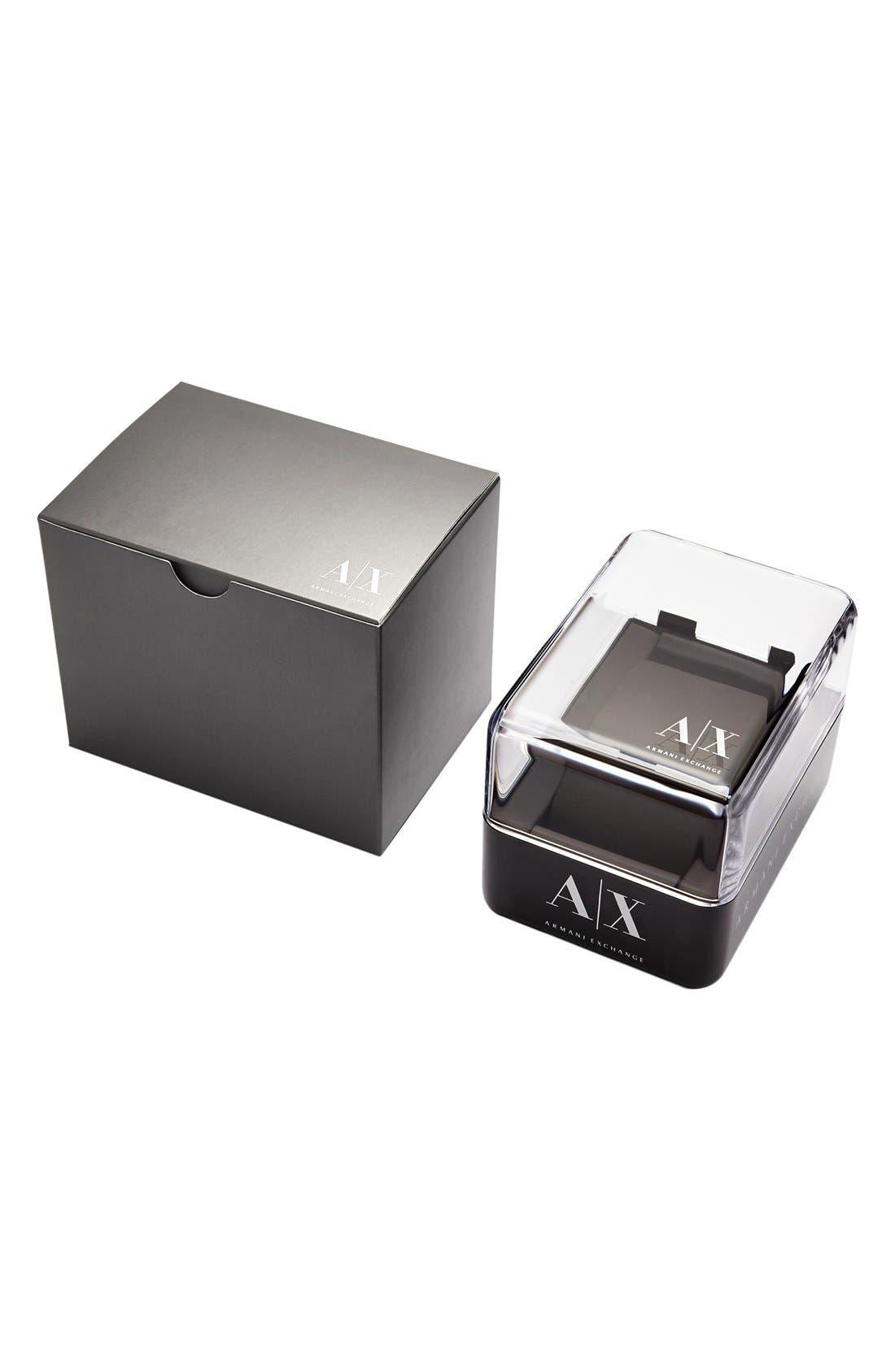 Alternate Image 3  - AX Armani Exchange Crystal Index Logo Dial Watch, 40mm
