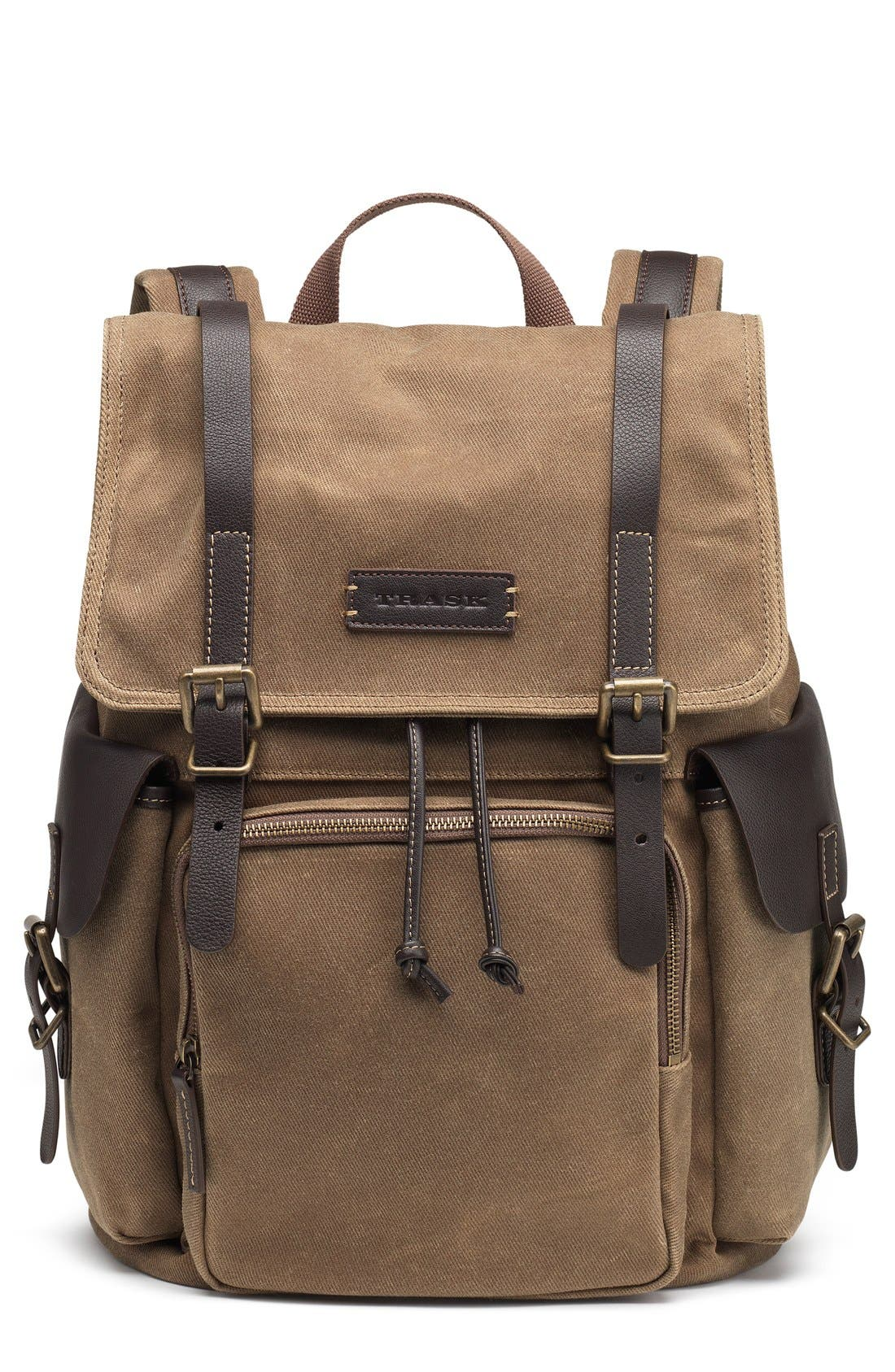 Trask 'Bridger' Waxed Canvas Backpack