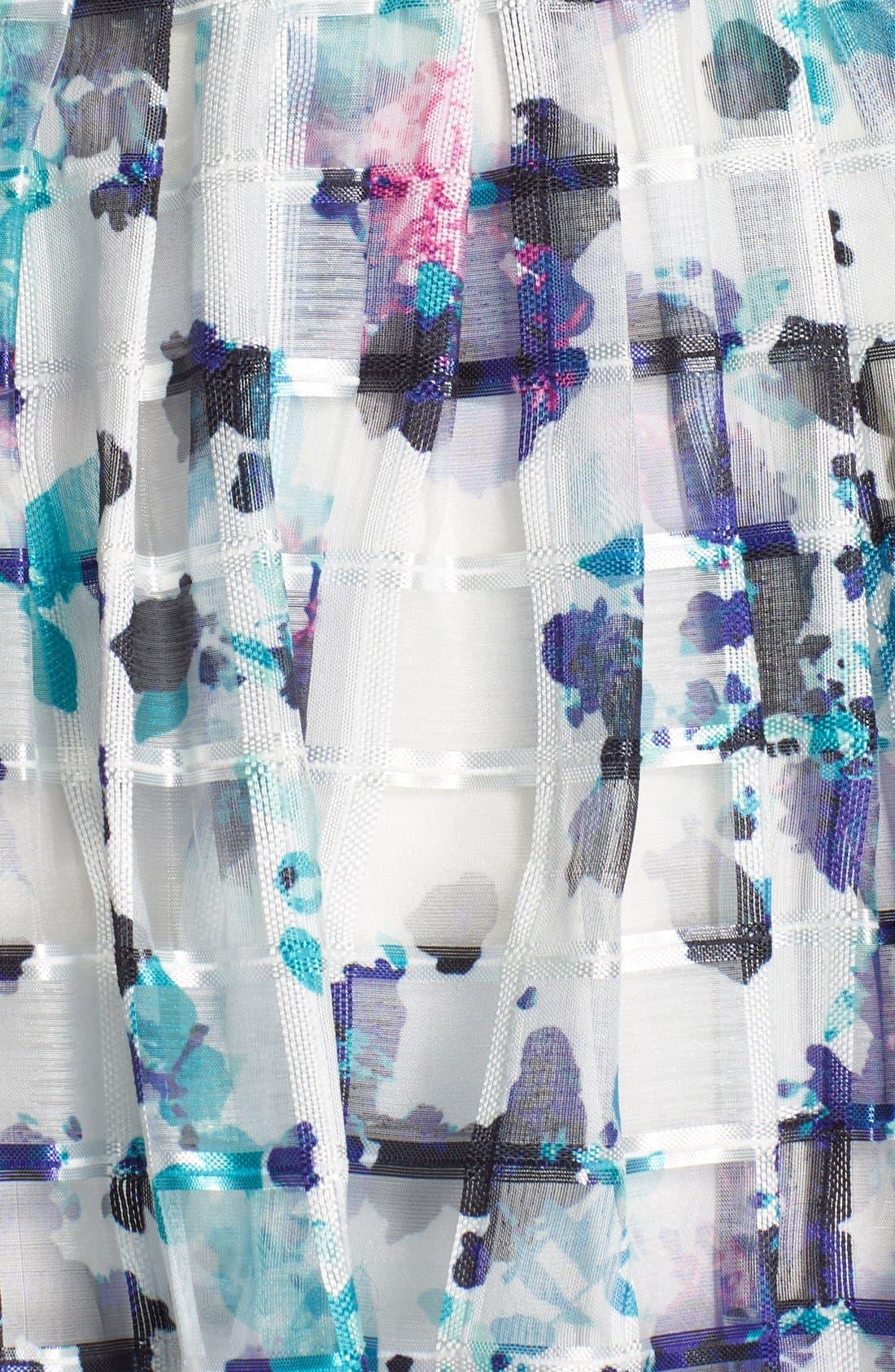 Alternate Image 5  - Ivanka Trump Floral Print Organza Midi Dress