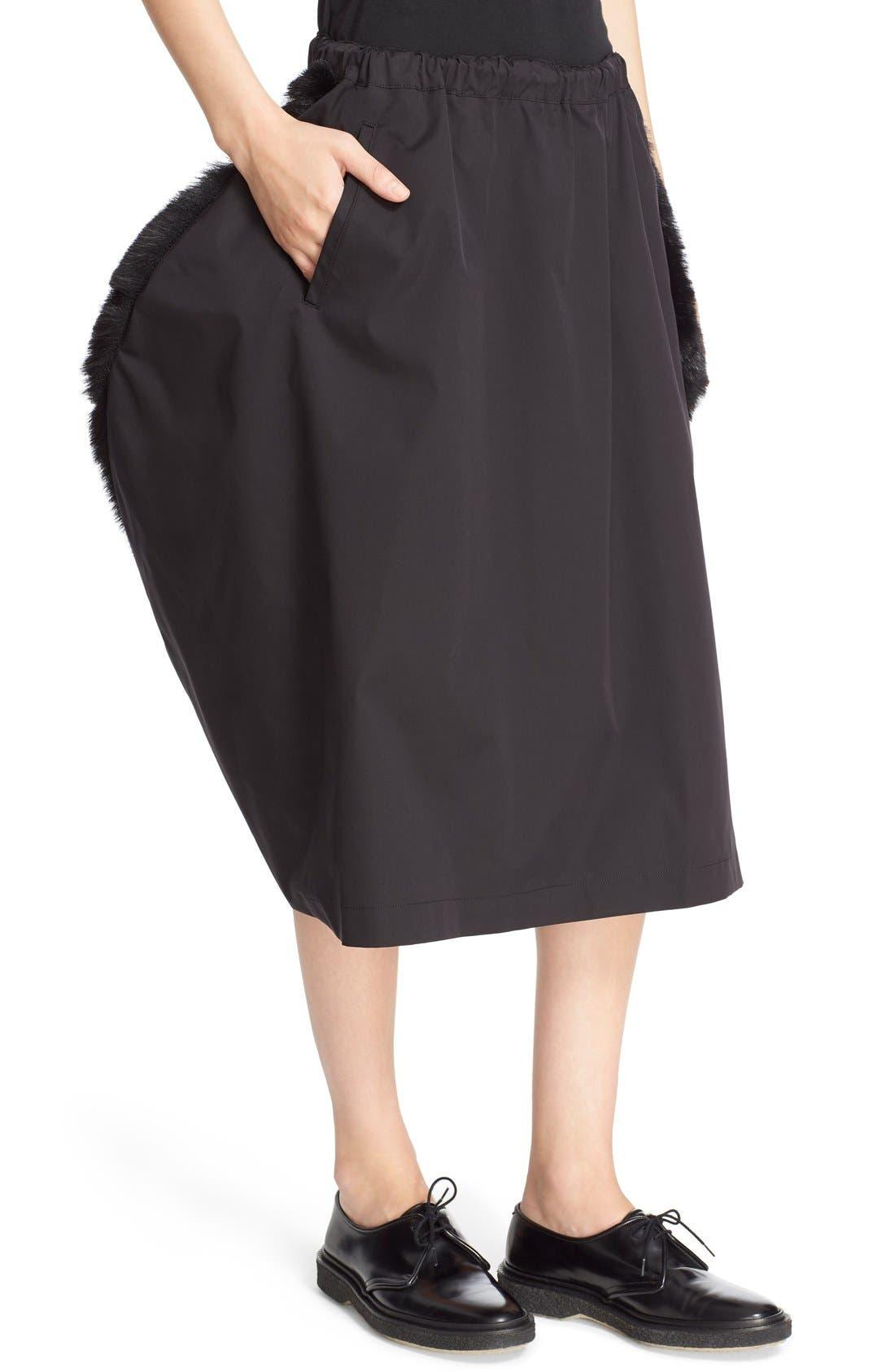 Alternate Image 6  - Comme des Garçons Stretch Twill Midi Skirt