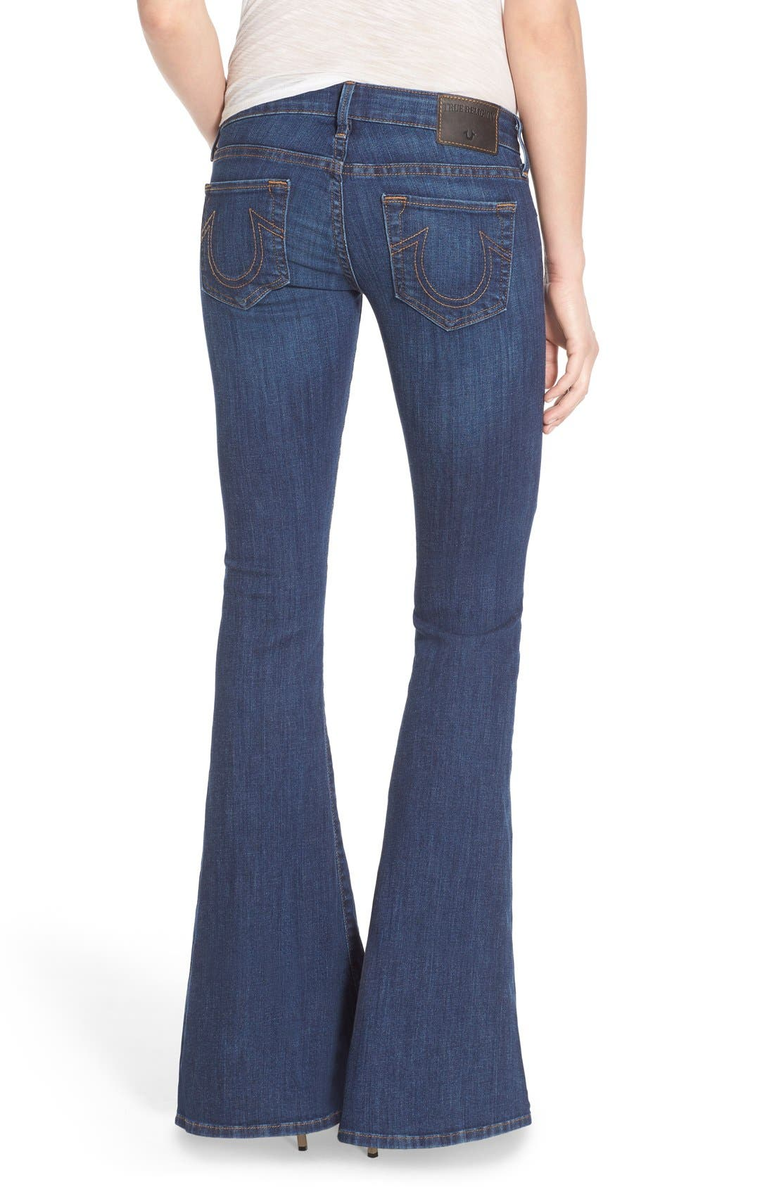 Alternate Image 2  - True Religion Brand Jeans 'Karlie' Bell Bottom Jeans (Worn Vintage)
