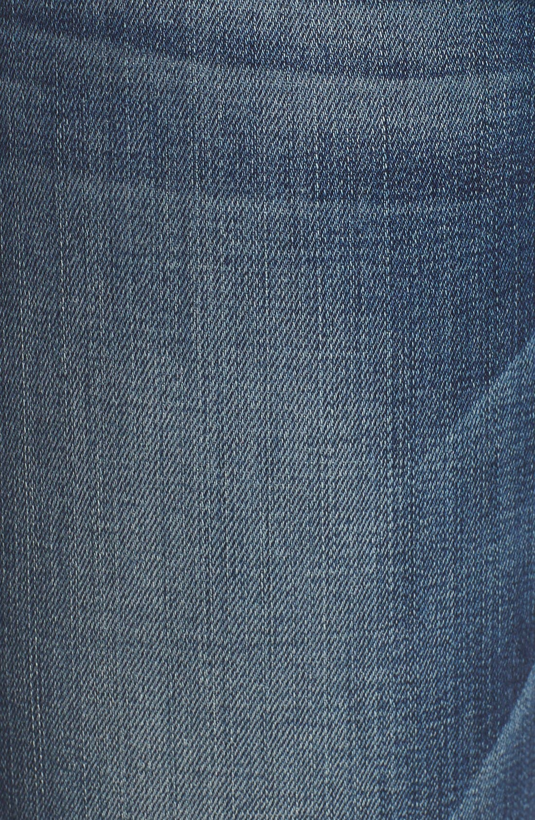 Alternate Image 5  - 7 For All Mankind® Destroyed Skinny Jeans (Stretch Blue Orchid)