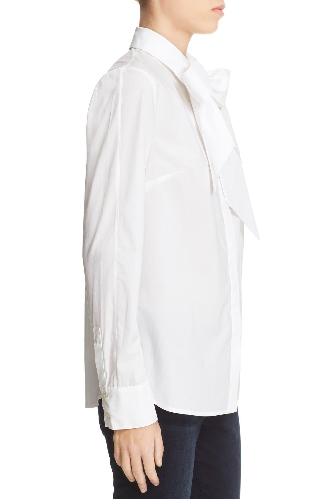 Alternate Image 4  - FRAME 'Le Bowtie' Removable Tie Cotton Poplin Blouse