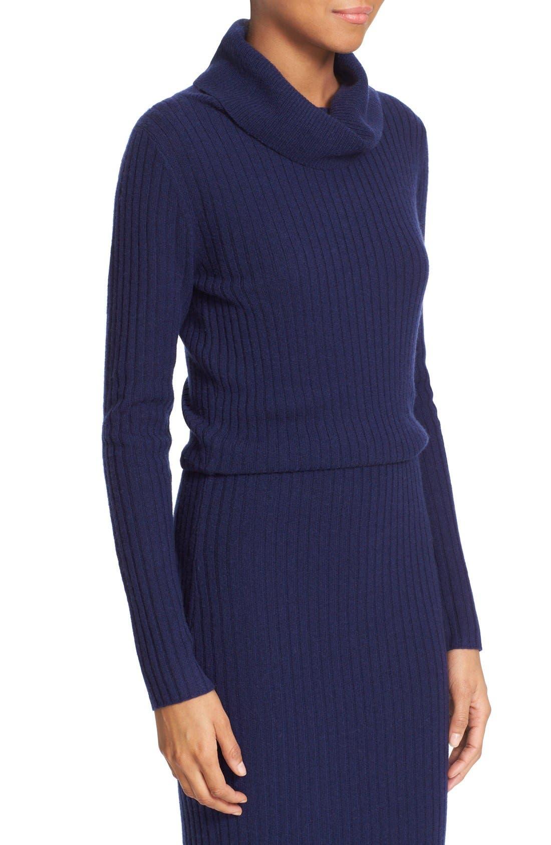 Alternate Image 4  - Alice + Olivia 'Hailee' Cowl Neck Blouson Sweater Dress