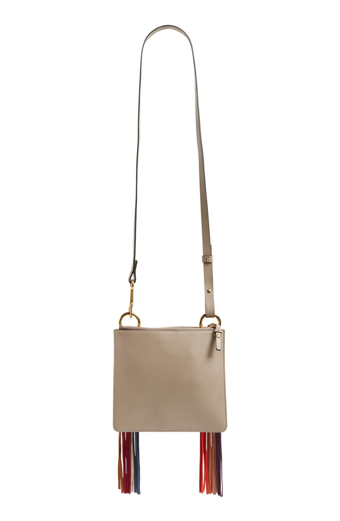 Alternate Image 5  - Chloé 'Small Jane' Suede Fringe Patchwork Leather Crossbody Bag