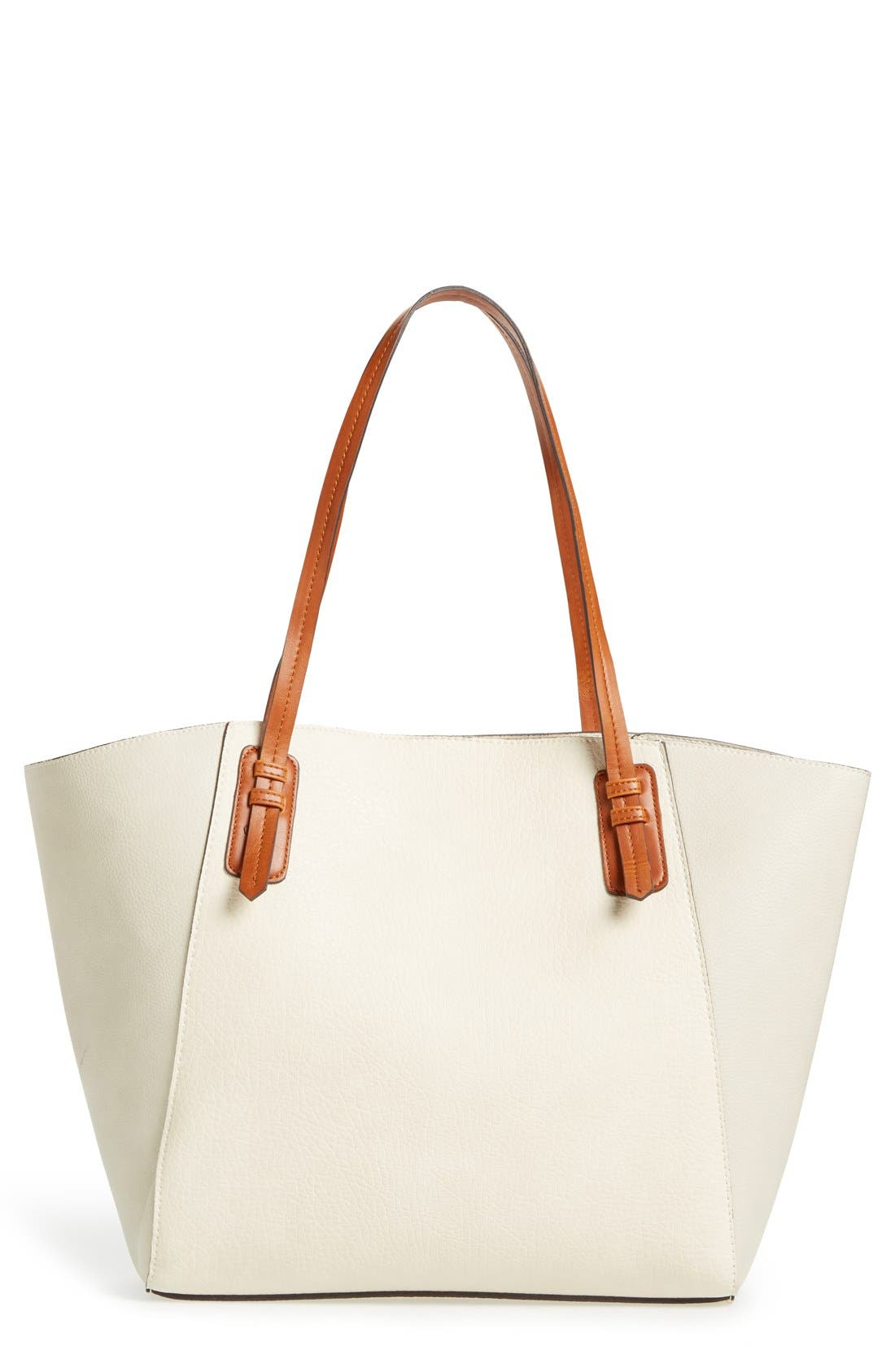 Main Image - Sole Society Faux Leather Trapeze Tote