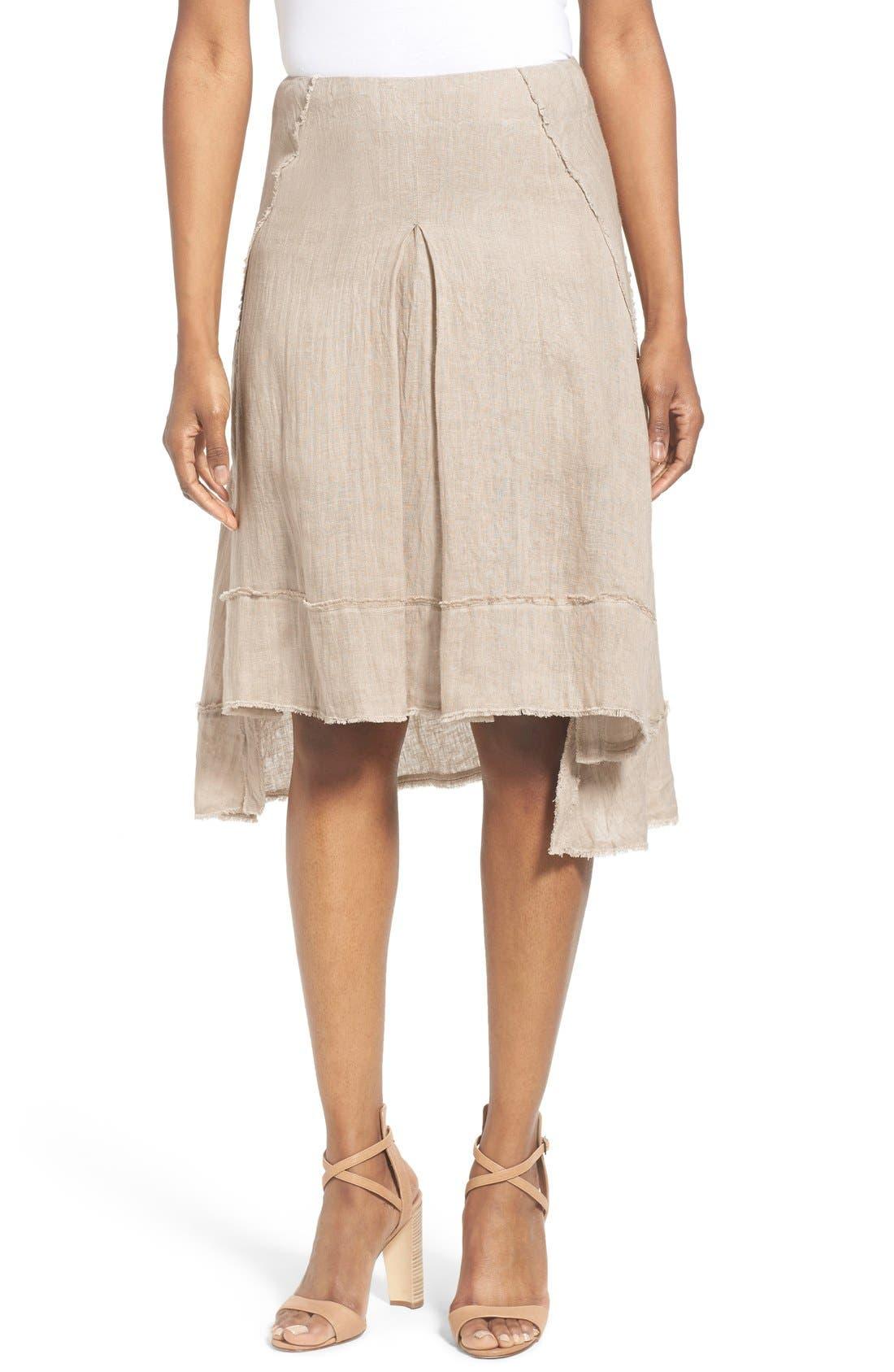 Alternate Image 1 Selected - Elie Tahari 'Florence' High/Low Linen Skirt