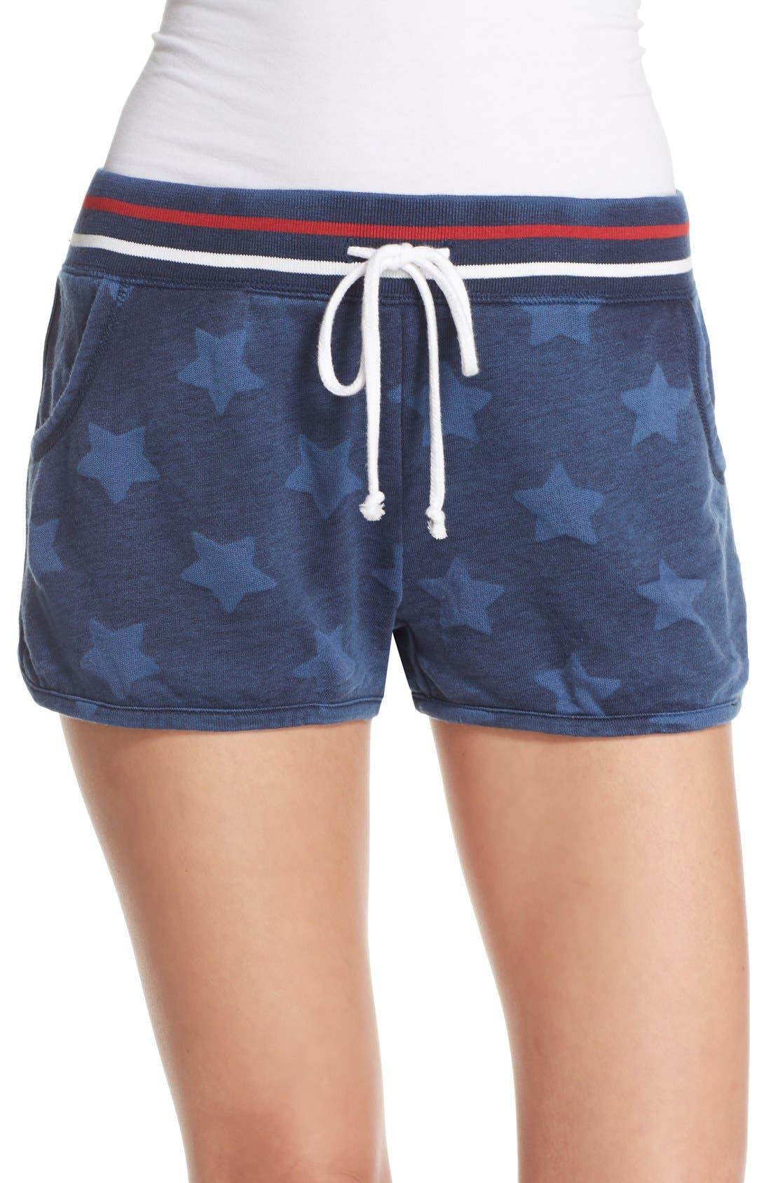 Alternate Image 1 Selected - PJ Salvage 'Road Trip' Star Print Pajama Shorts