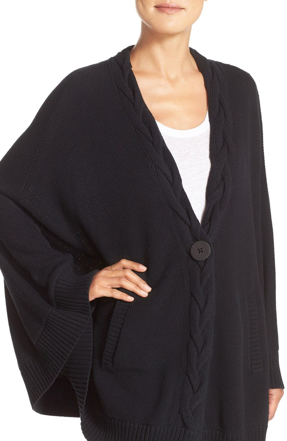 Alternate Image 4  - UGG® 'Anjeline' Knit Cape