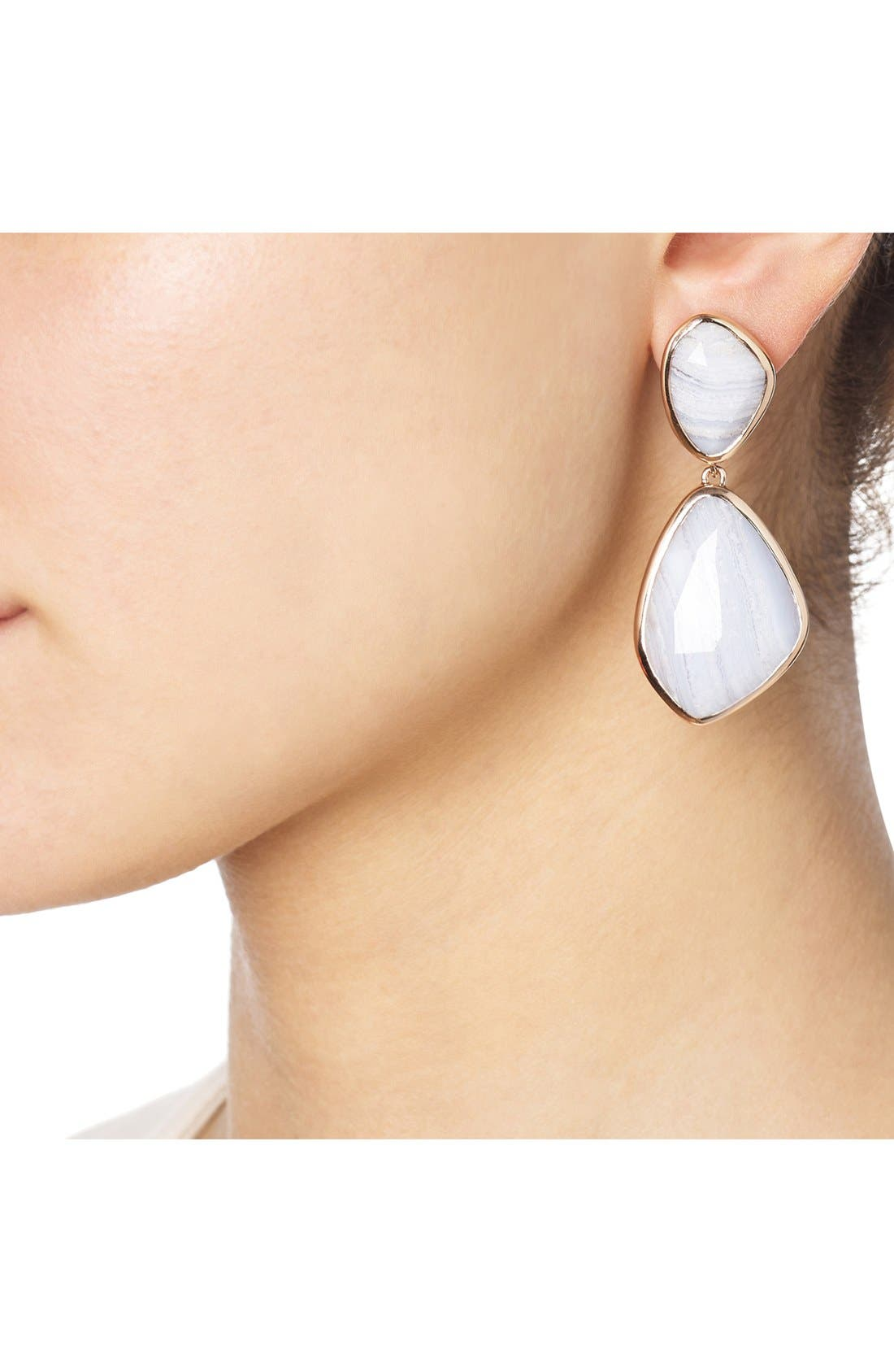 Alternate Image 4  - Monica Vinader 'Siren' Semiprecious Stone Double Drop Earrings