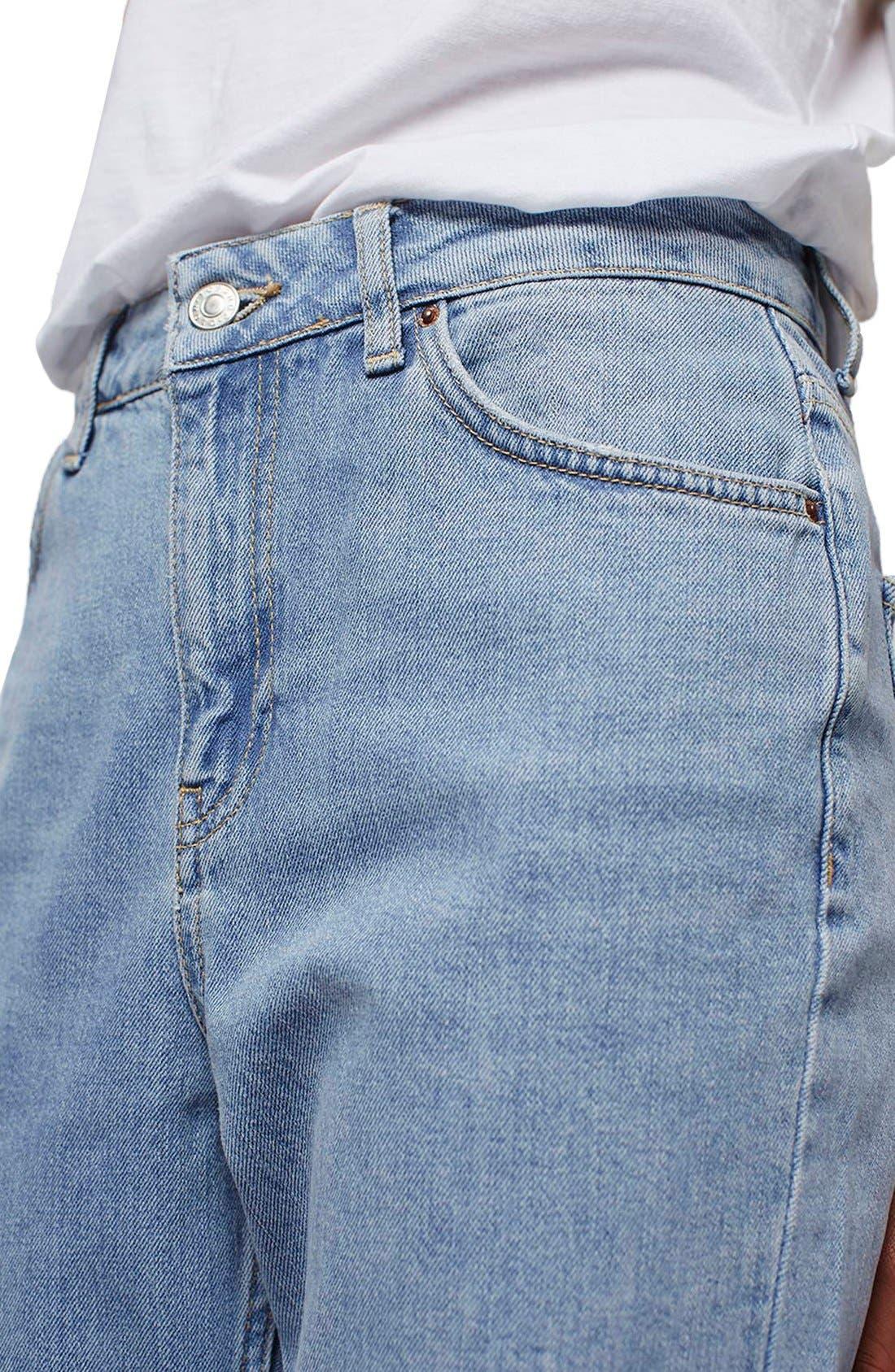 Alternate Image 5  - Topshop Mom Jeans (Lilac) (Petite)