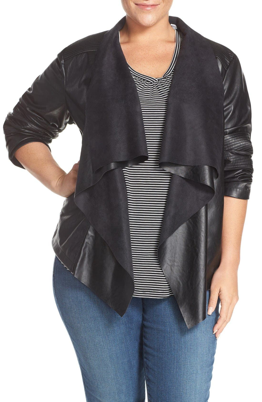 Alternate Image 1 Selected - Levi's® 'Cascade' Faux Leather Jacket (Plus Size)