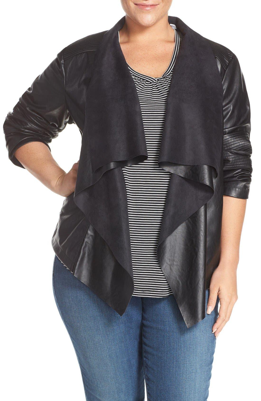 Main Image - Levi's® 'Cascade' Faux Leather Jacket (Plus Size)
