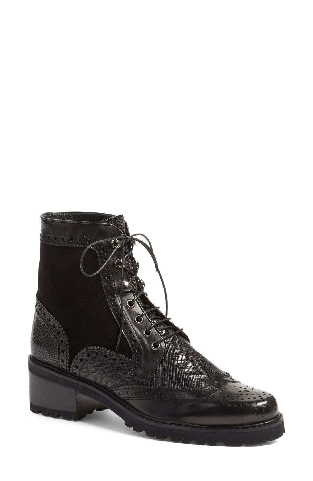 Alternate Image 1 Selected - Stuart Weitzman 'Brogen' Wingtip Boot (Women)