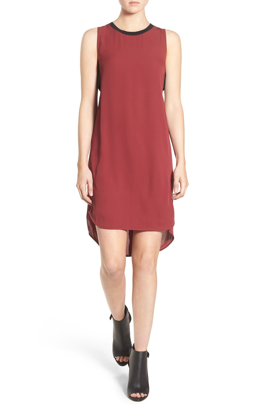 Alternate Image 1 Selected - Trouvé Banded High/Low Shift Dress
