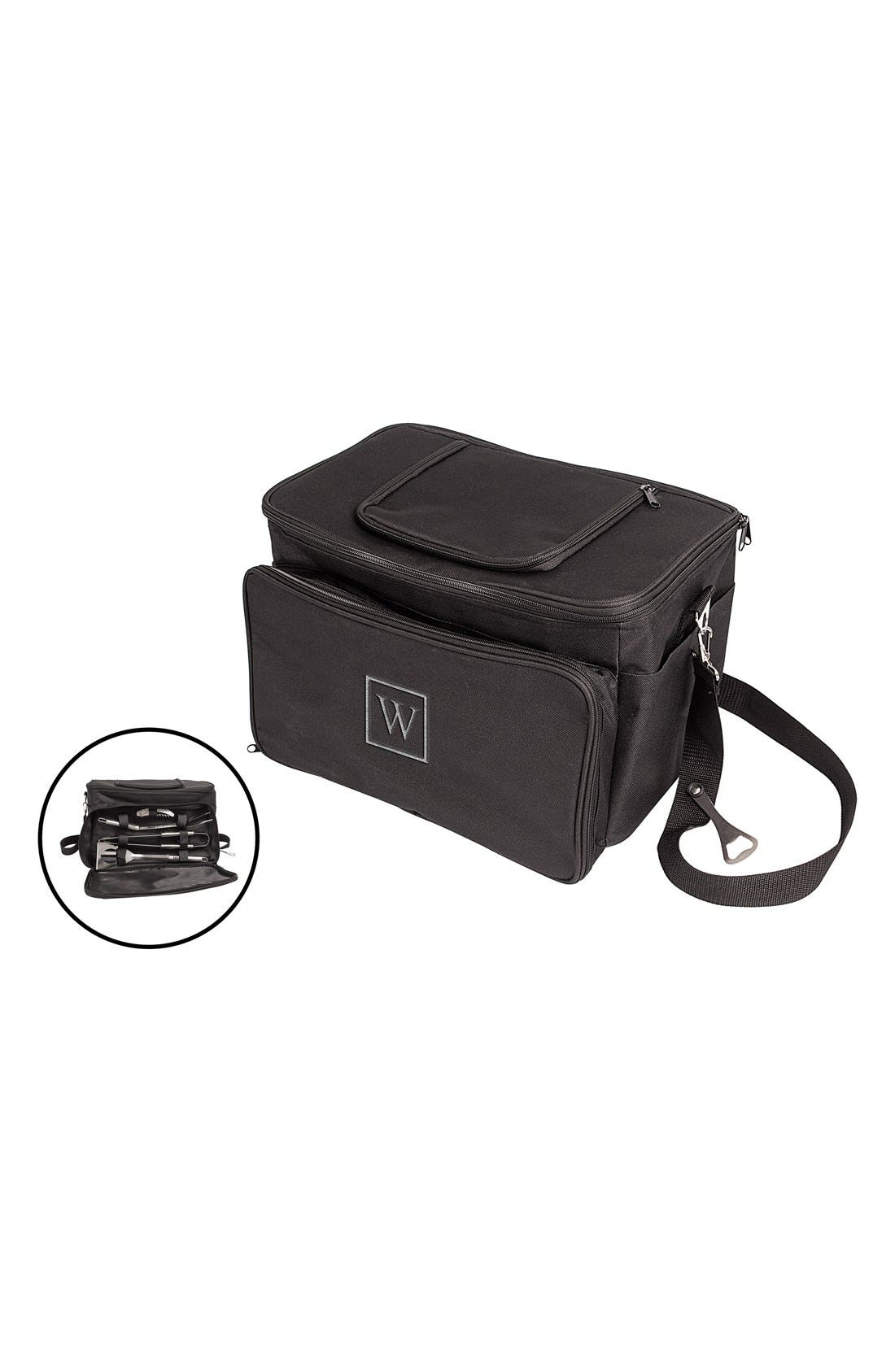 Cathy's Concepts Monogram Tailgate Cooler with Grilling Tools